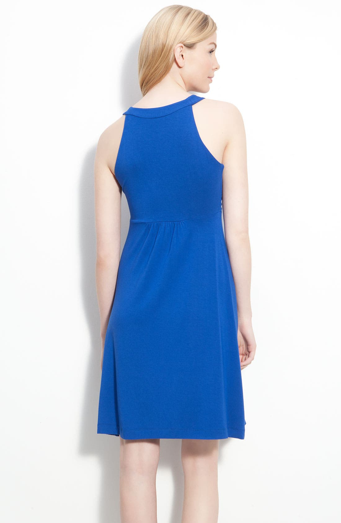Ruched Bodice Jersey Dress,                             Alternate thumbnail 3, color,