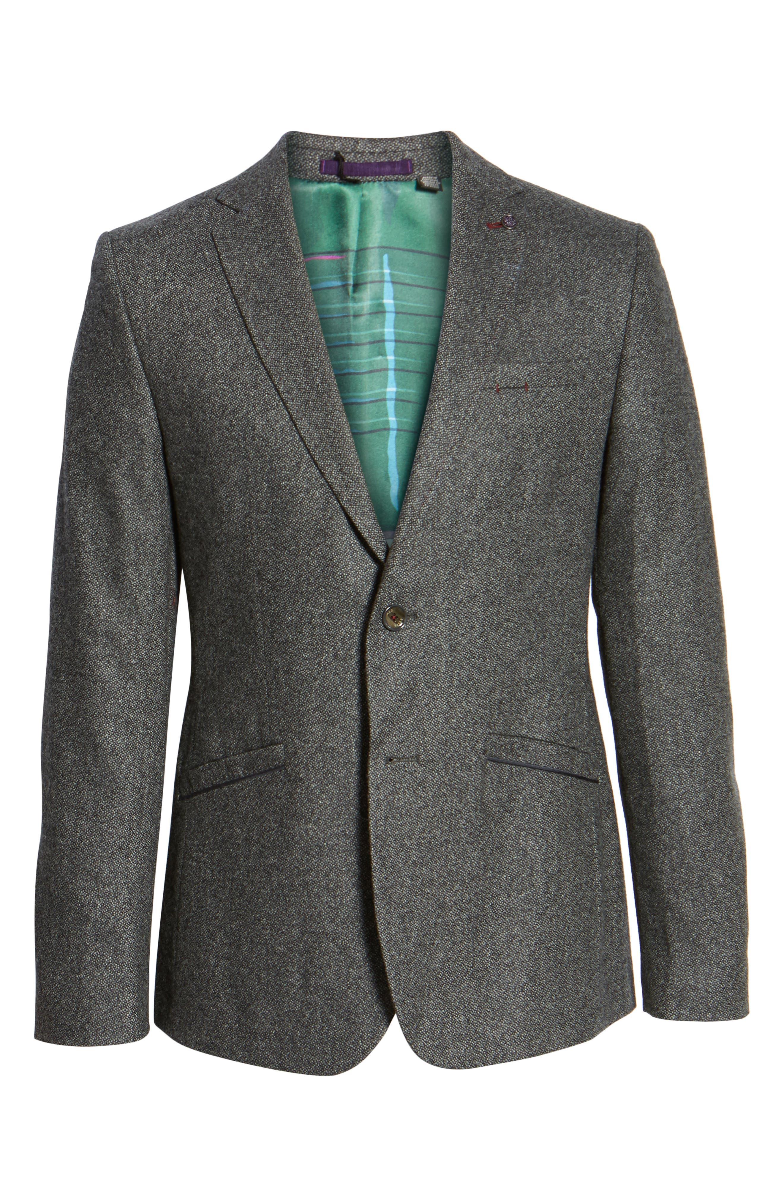 Modern Slim Fit Textured Blazer,                             Alternate thumbnail 5, color,                             010