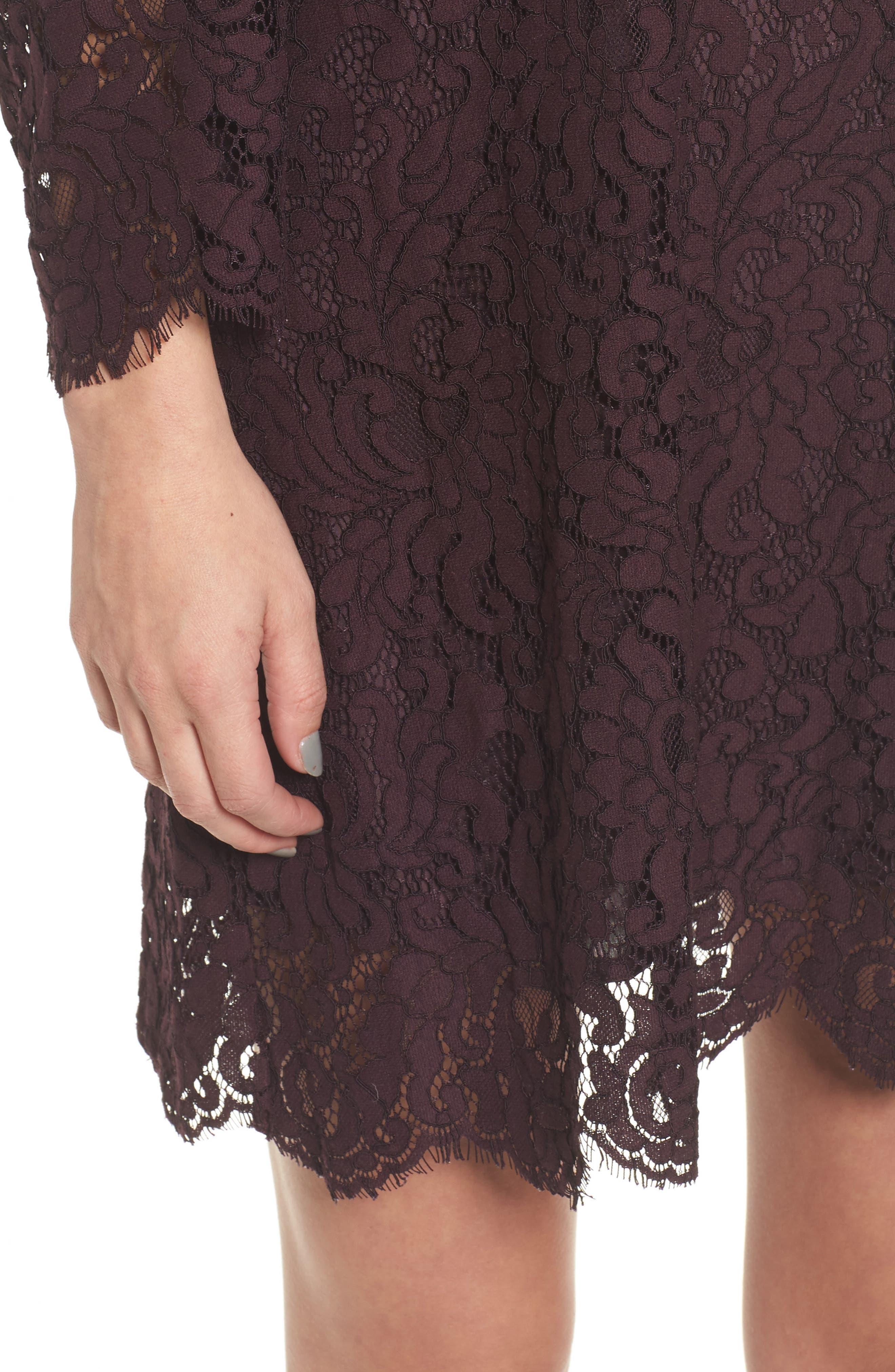 Adalira Off the Shoulder Lace Dress,                             Alternate thumbnail 4, color,                             930