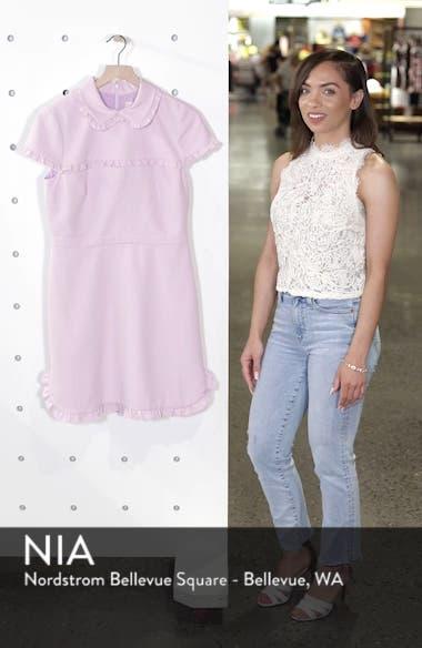 Emma Ruffle Crepe Dress, sales video thumbnail