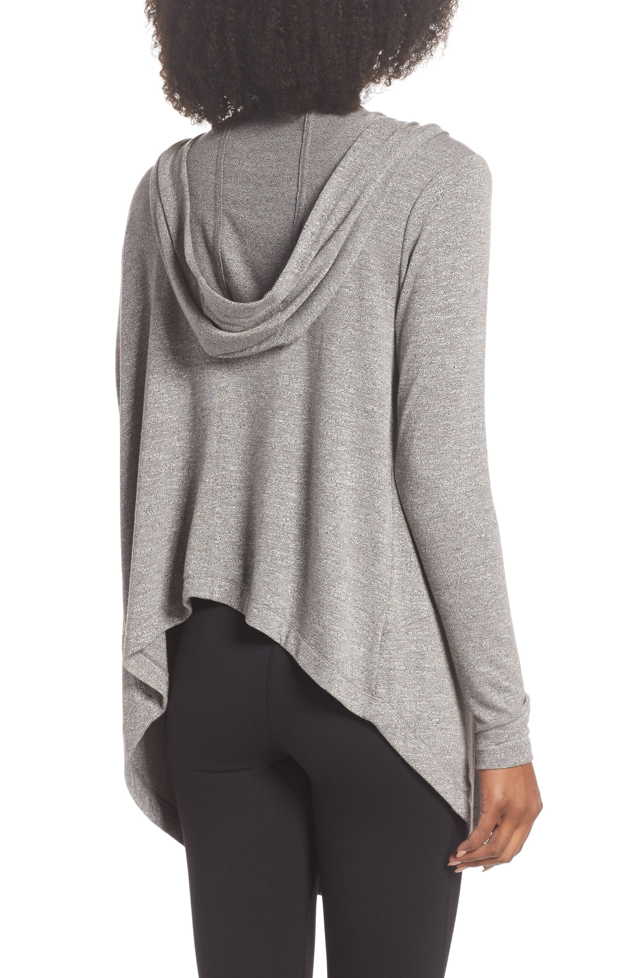 After Class Hooded Cardigan,                             Alternate thumbnail 2, color,                             GREY DARK HEATHER