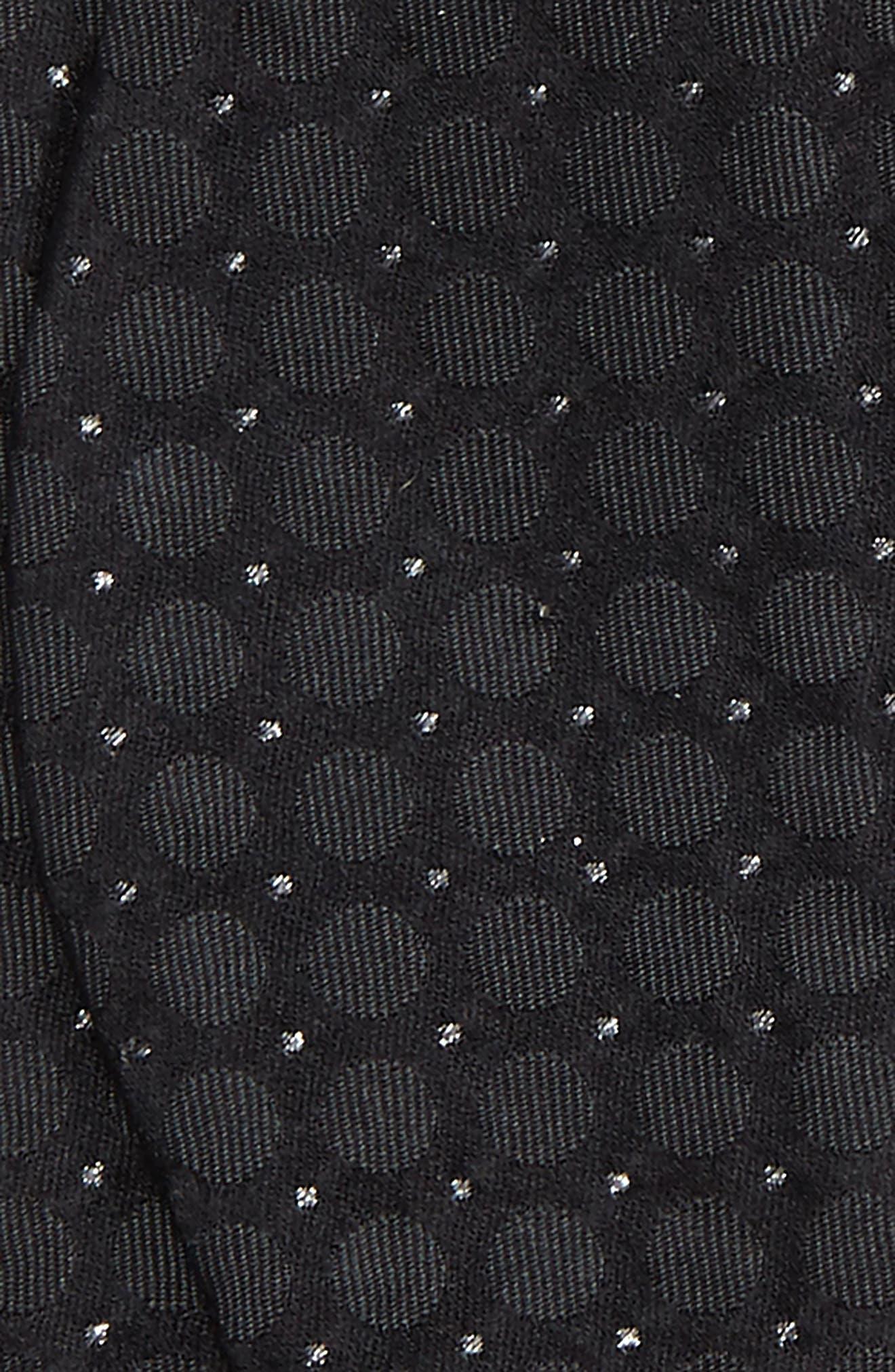 Black Shimmer Bow Tie,                             Alternate thumbnail 3, color,                             001