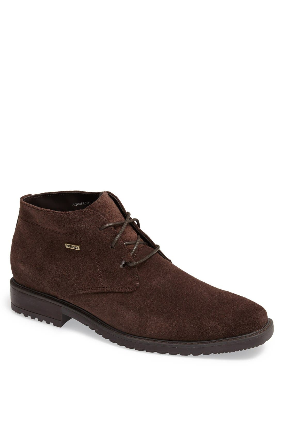 'Griffin' Waterproof Suede Chukka Boot,                             Main thumbnail 1, color,                             201