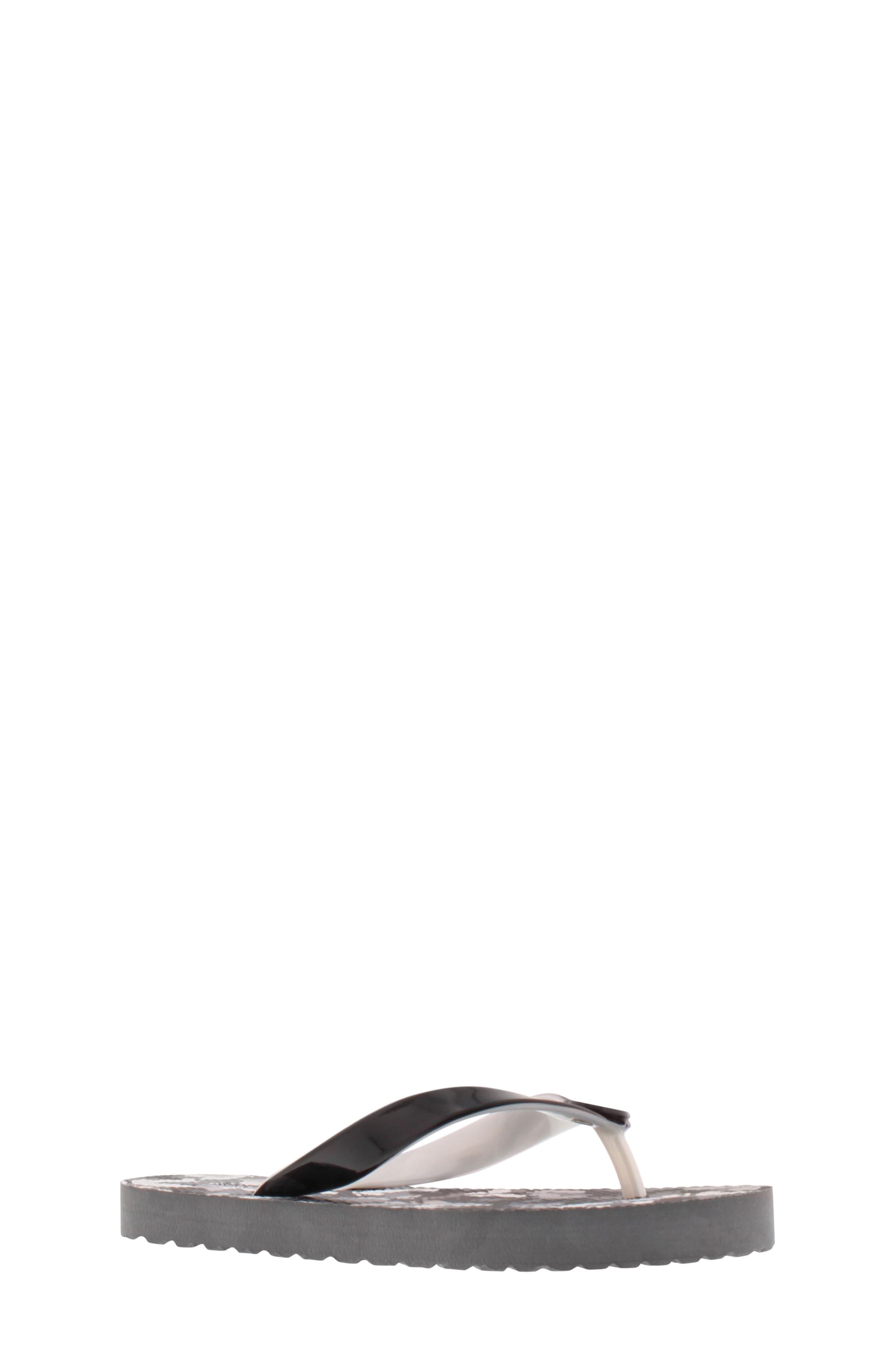 Endine Butterfly Flip Flop, Main, color, BLACK GREY