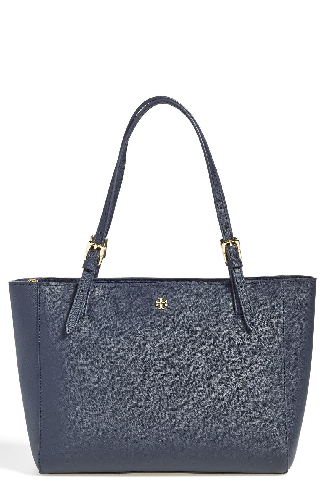 'Small York' Saffiano Leather Buckle Tote,                             Main thumbnail 10, color,