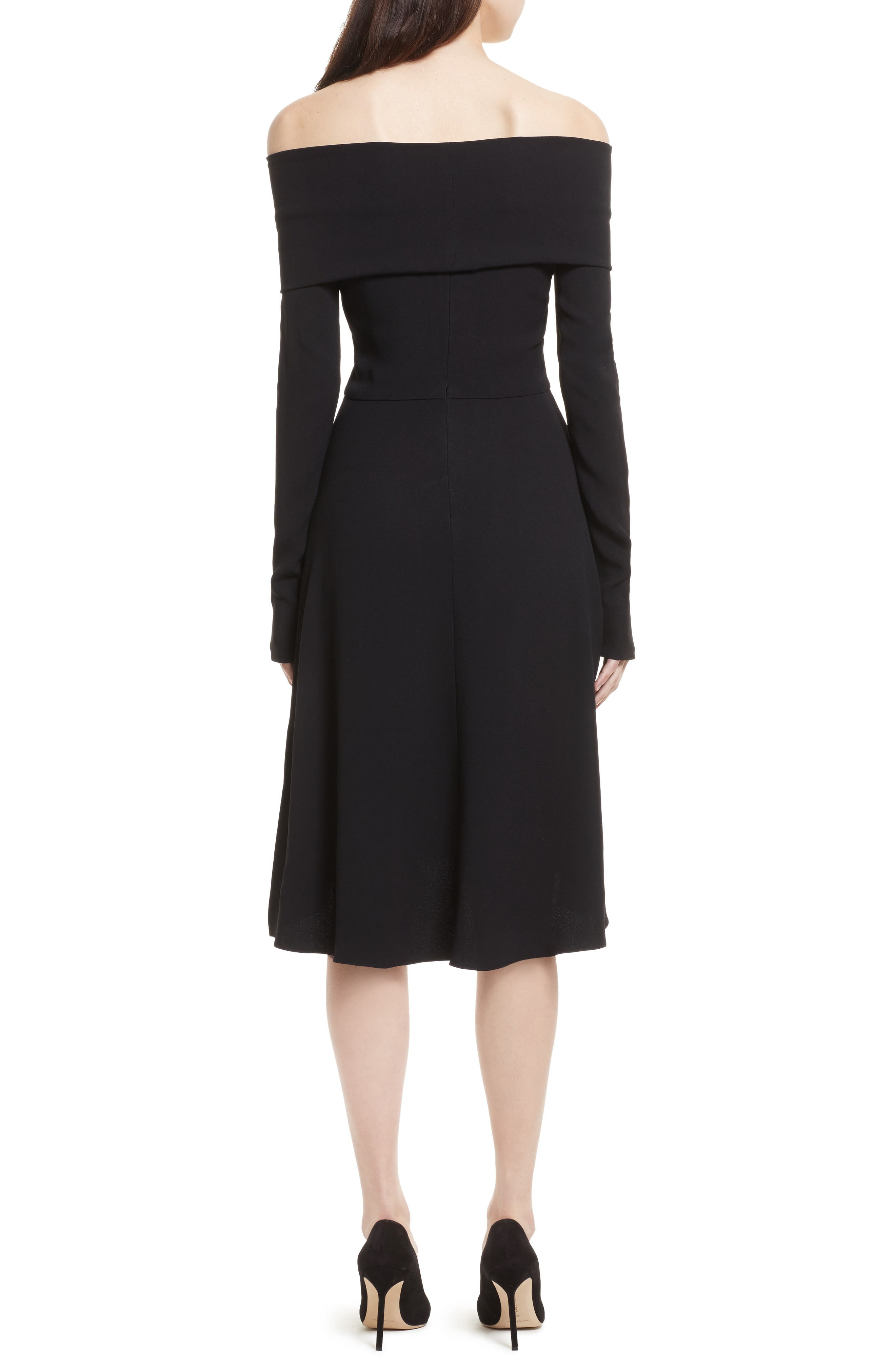 Kensington Off the Shoulder Foldover Dress,                             Alternate thumbnail 2, color,                             001