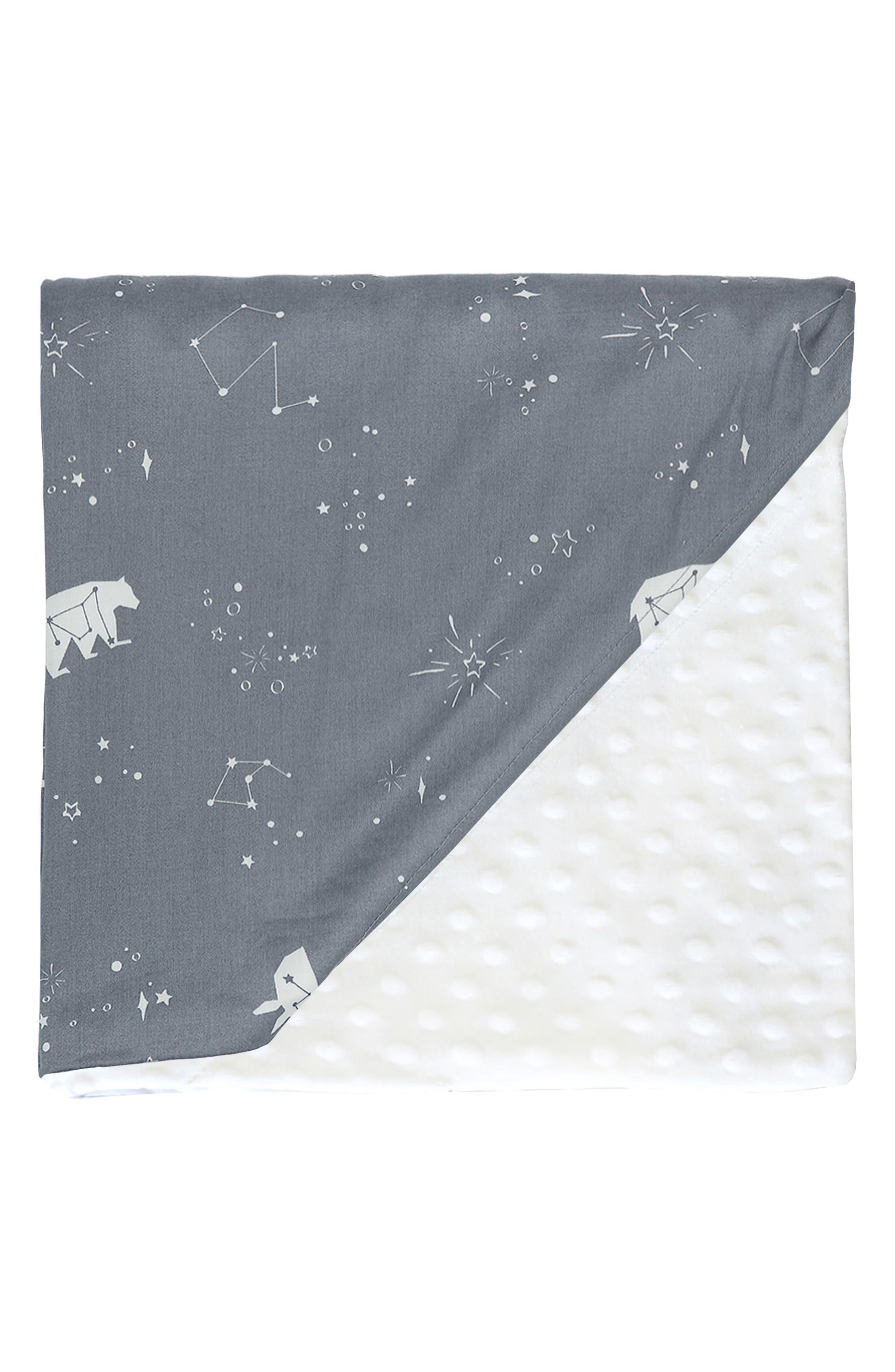 Embossed Minky Baby Blanket,                             Main thumbnail 1, color,                             POLARIS