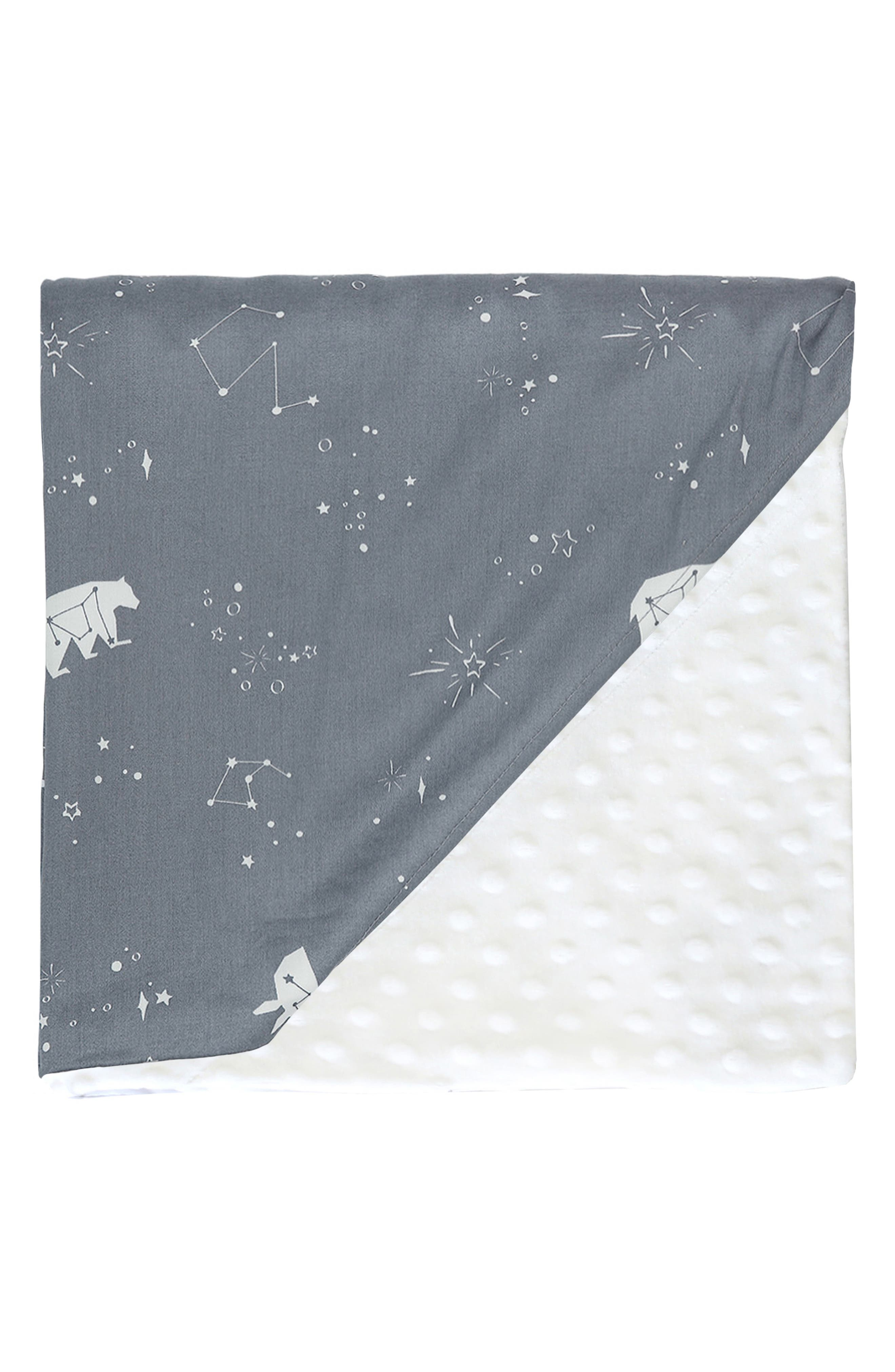 Embossed Minky Baby Blanket,                         Main,                         color, POLARIS