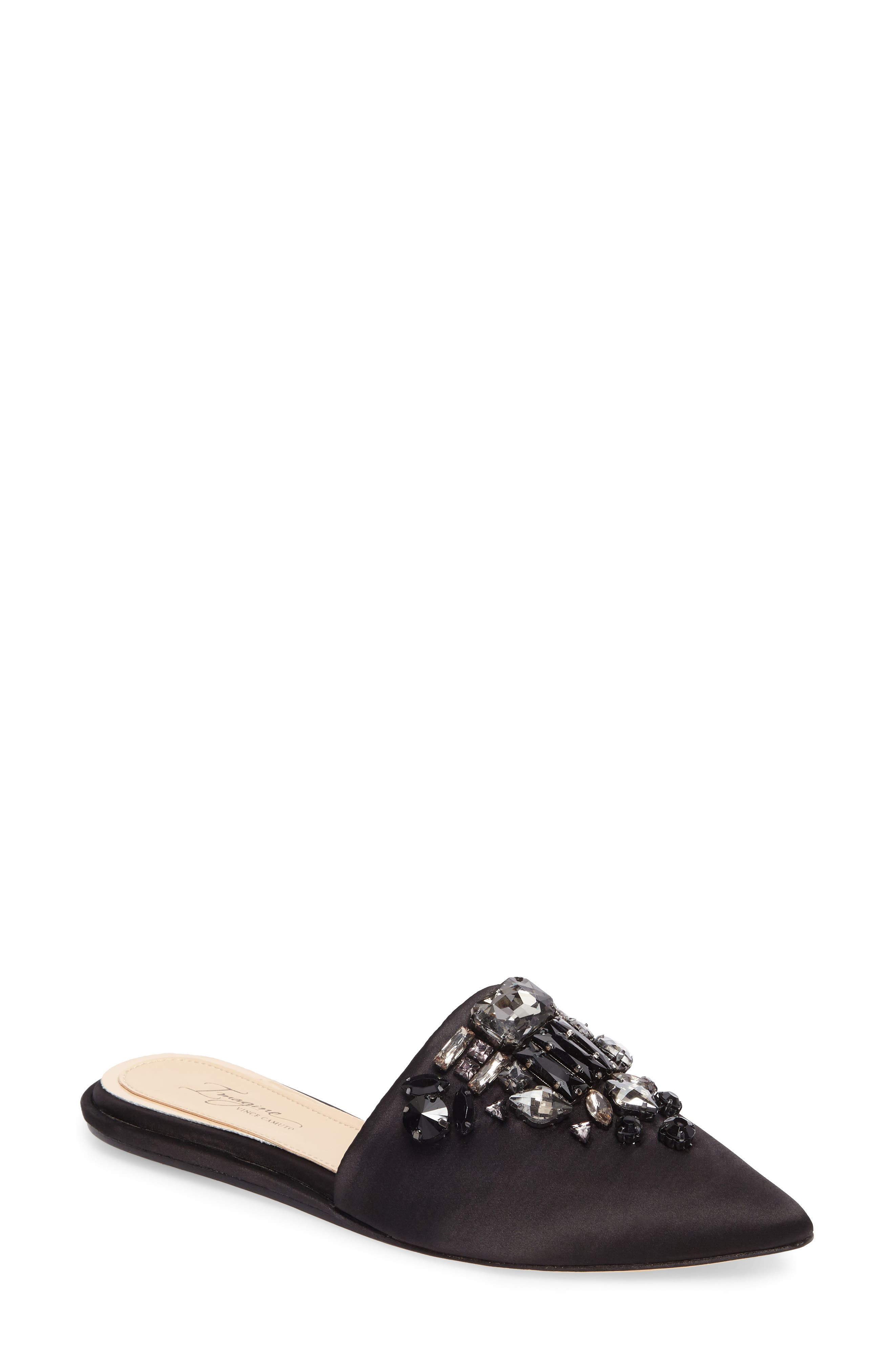 Imagine Vince Camuto Caide Embellished Mule,                             Main thumbnail 1, color,                             001