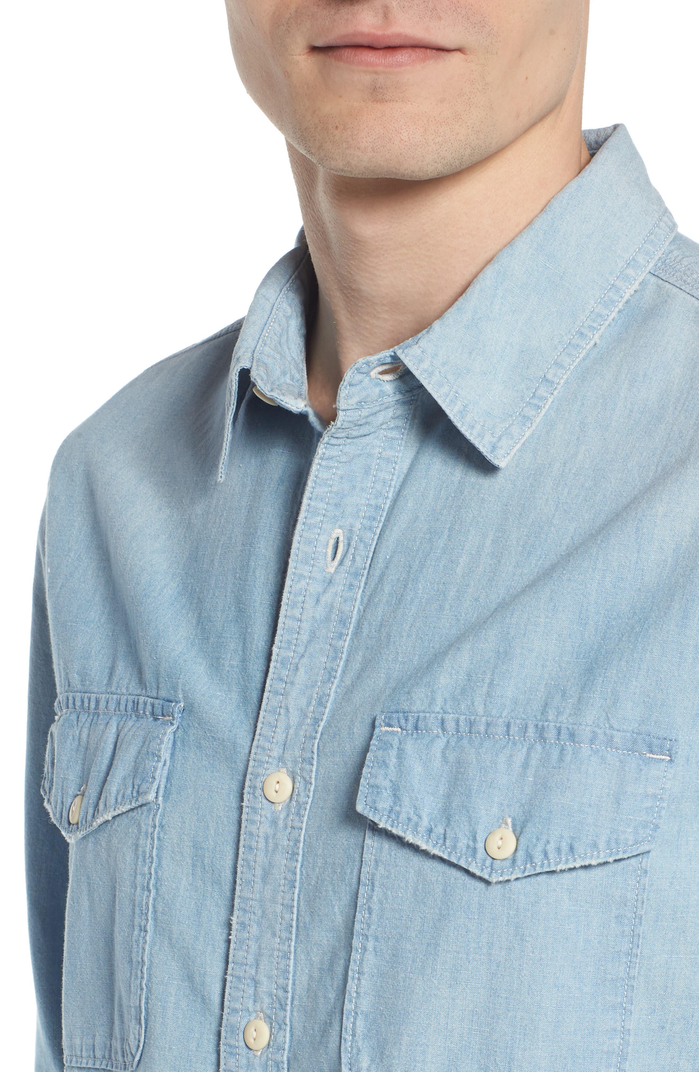 Benning Regular Fit Sport Shirt,                             Alternate thumbnail 4, color,                             499