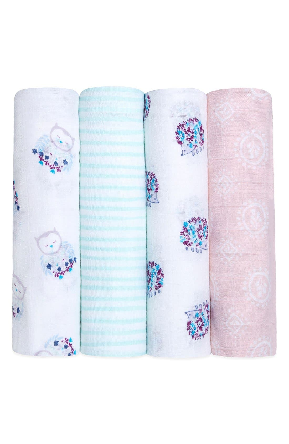 4-Pack Classic Swaddling Cloths,                             Main thumbnail 3, color,