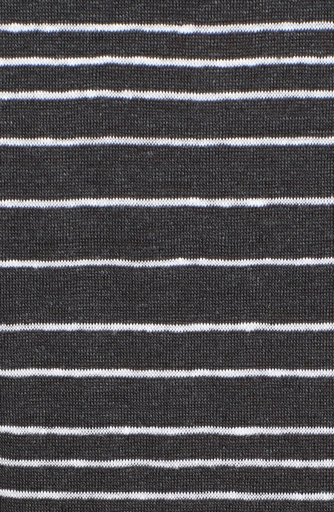 Stripe Organic Linen Tunic,                             Alternate thumbnail 6, color,                             025