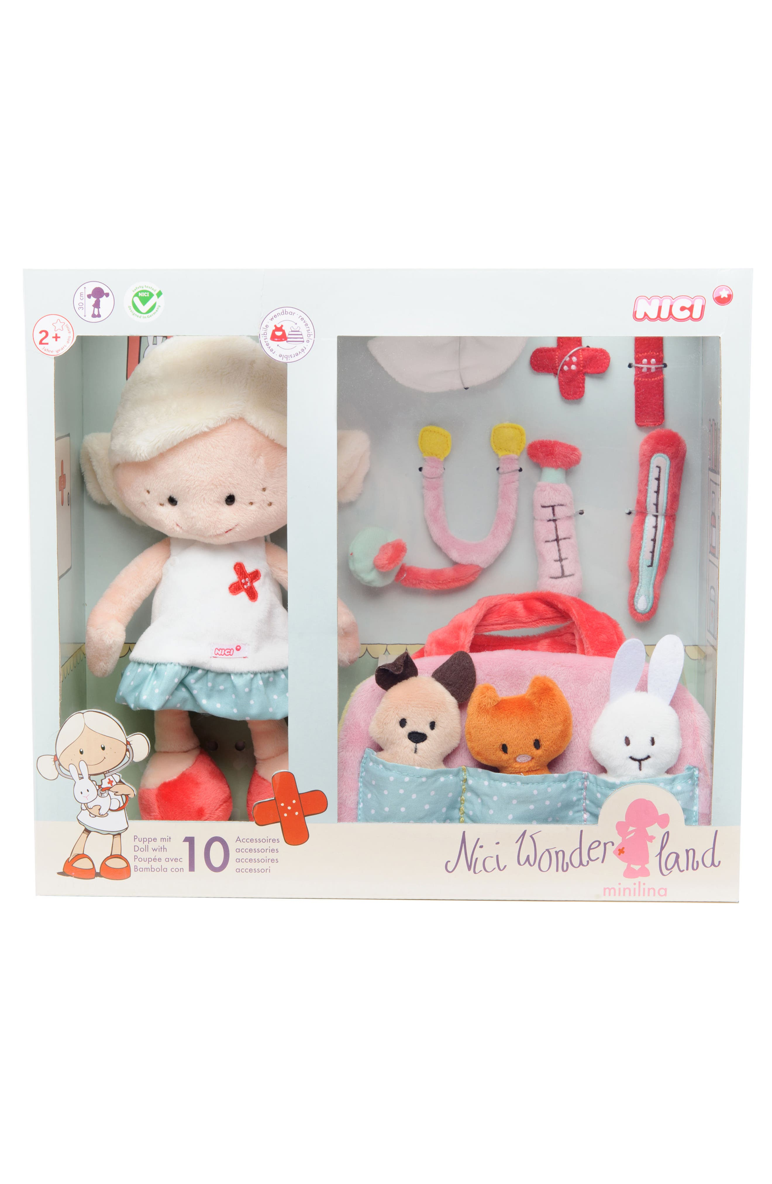 Neat Oh! 11-Piece Nici<sup>®</sup> Wonderland Minilina Plush Veterinarian Play Set,                             Alternate thumbnail 3, color,                             650