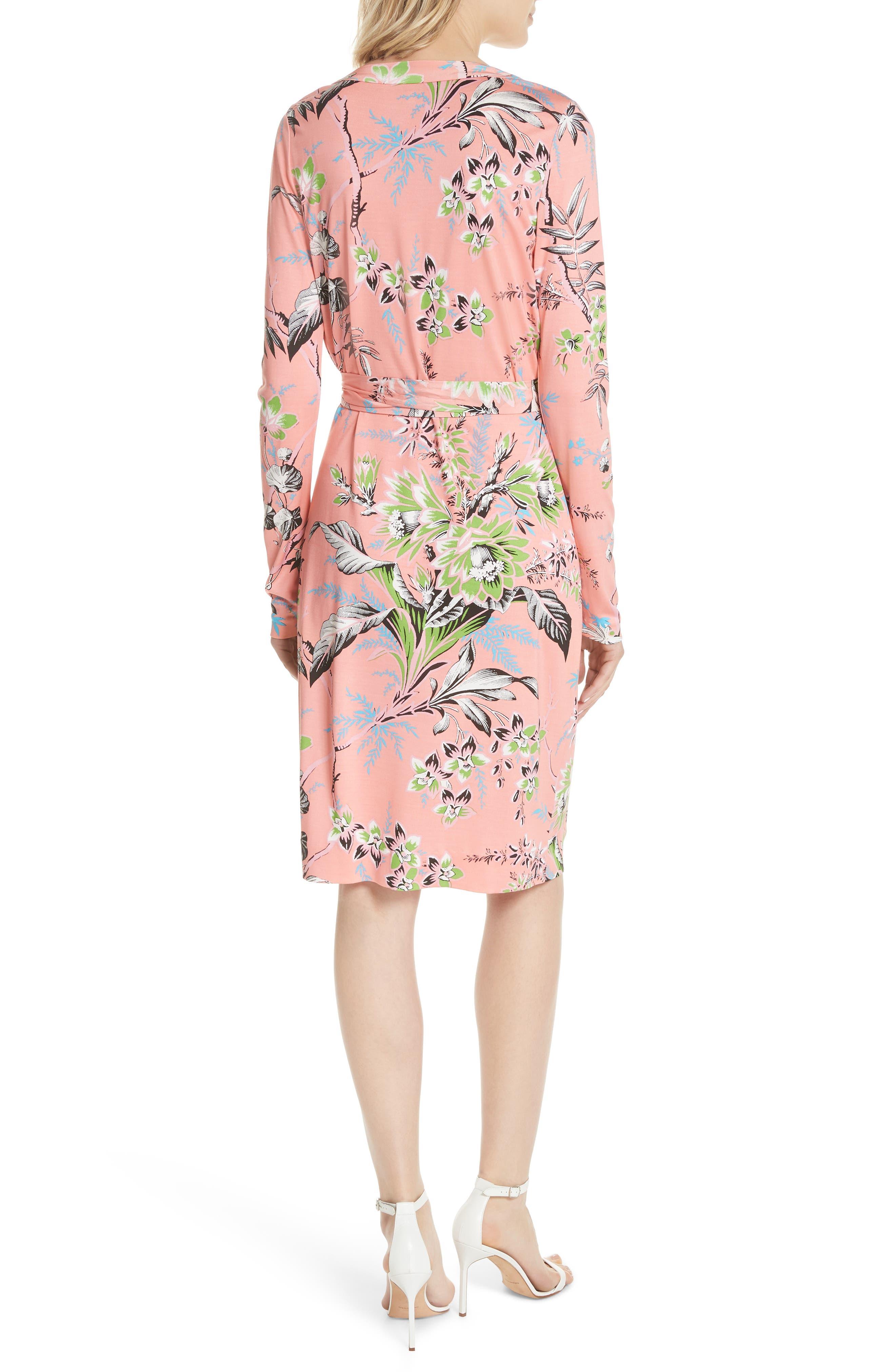 Julian Floral Silk Wrap Dress,                             Alternate thumbnail 2, color,