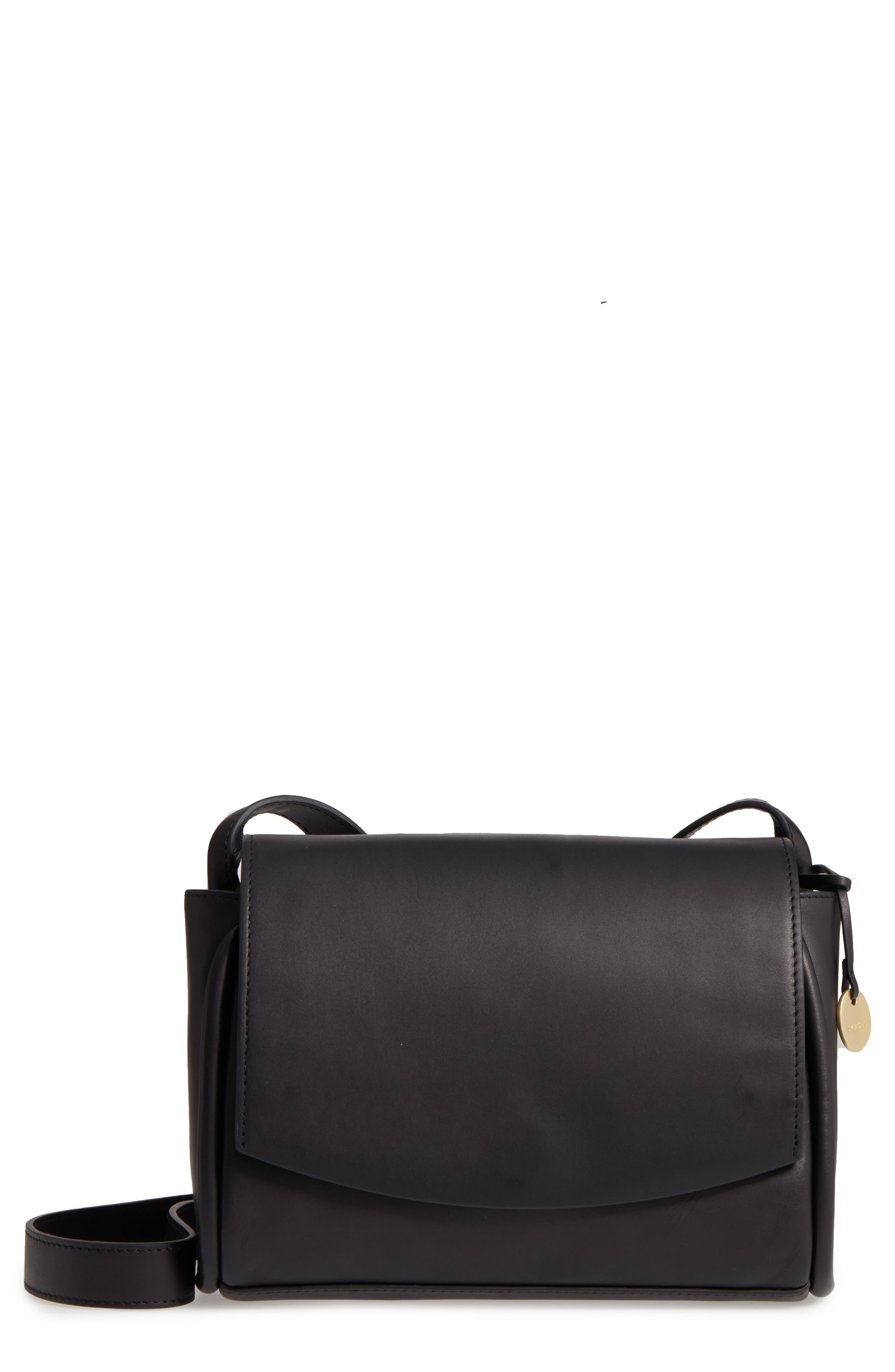 Sylvi Leather Crossbody Bag,                         Main,                         color, 001