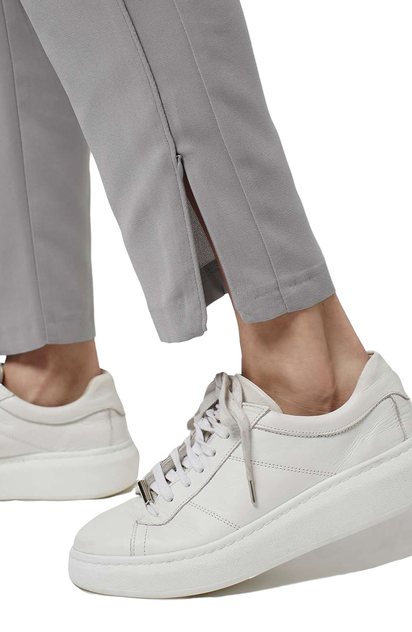 Contrast Piped Ankle Zip Jogger Pants,                             Alternate thumbnail 3, color,                             020