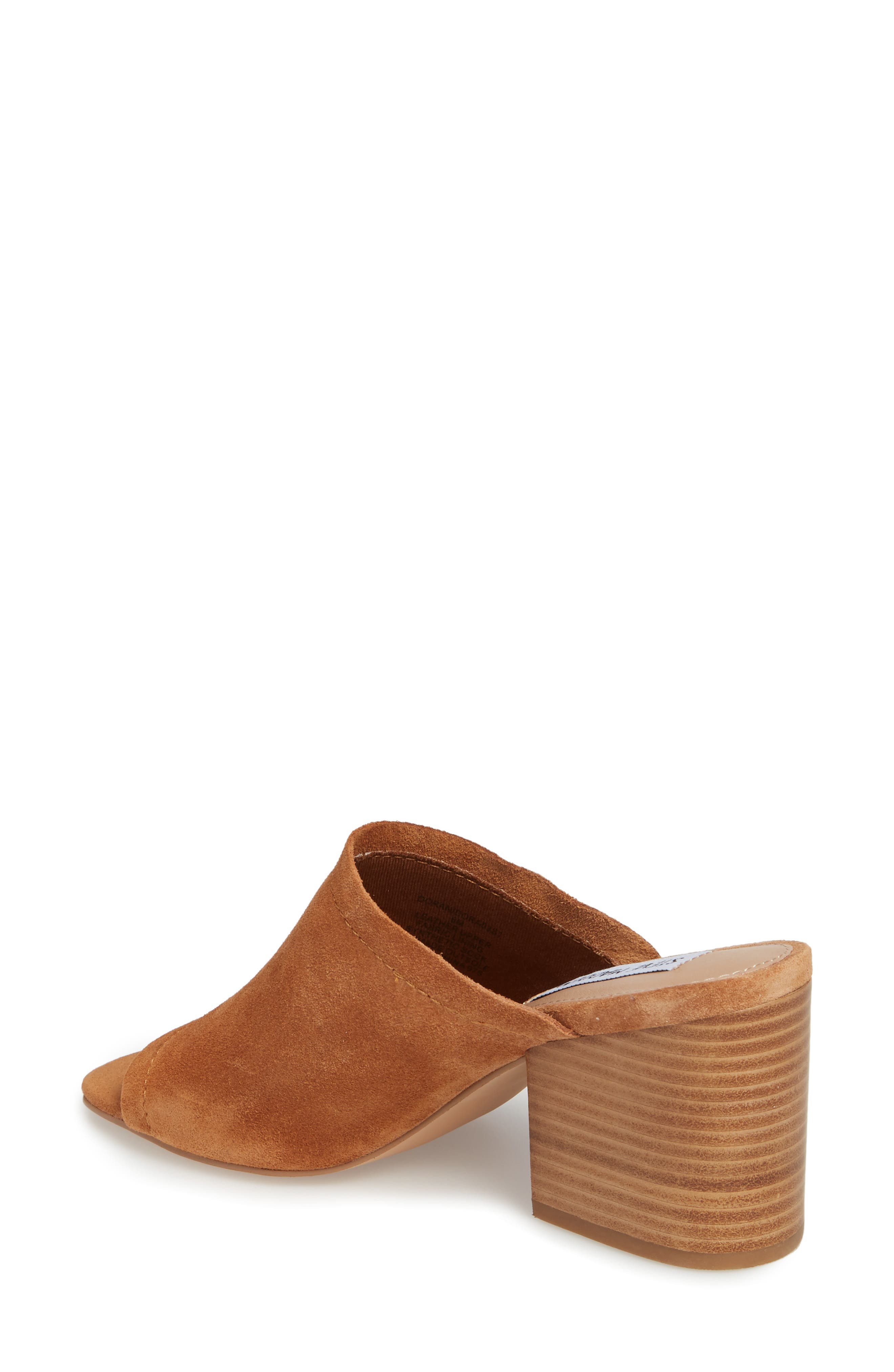 Doran Mule Sandal,                             Alternate thumbnail 2, color,                             CHESTNUT SUEDE