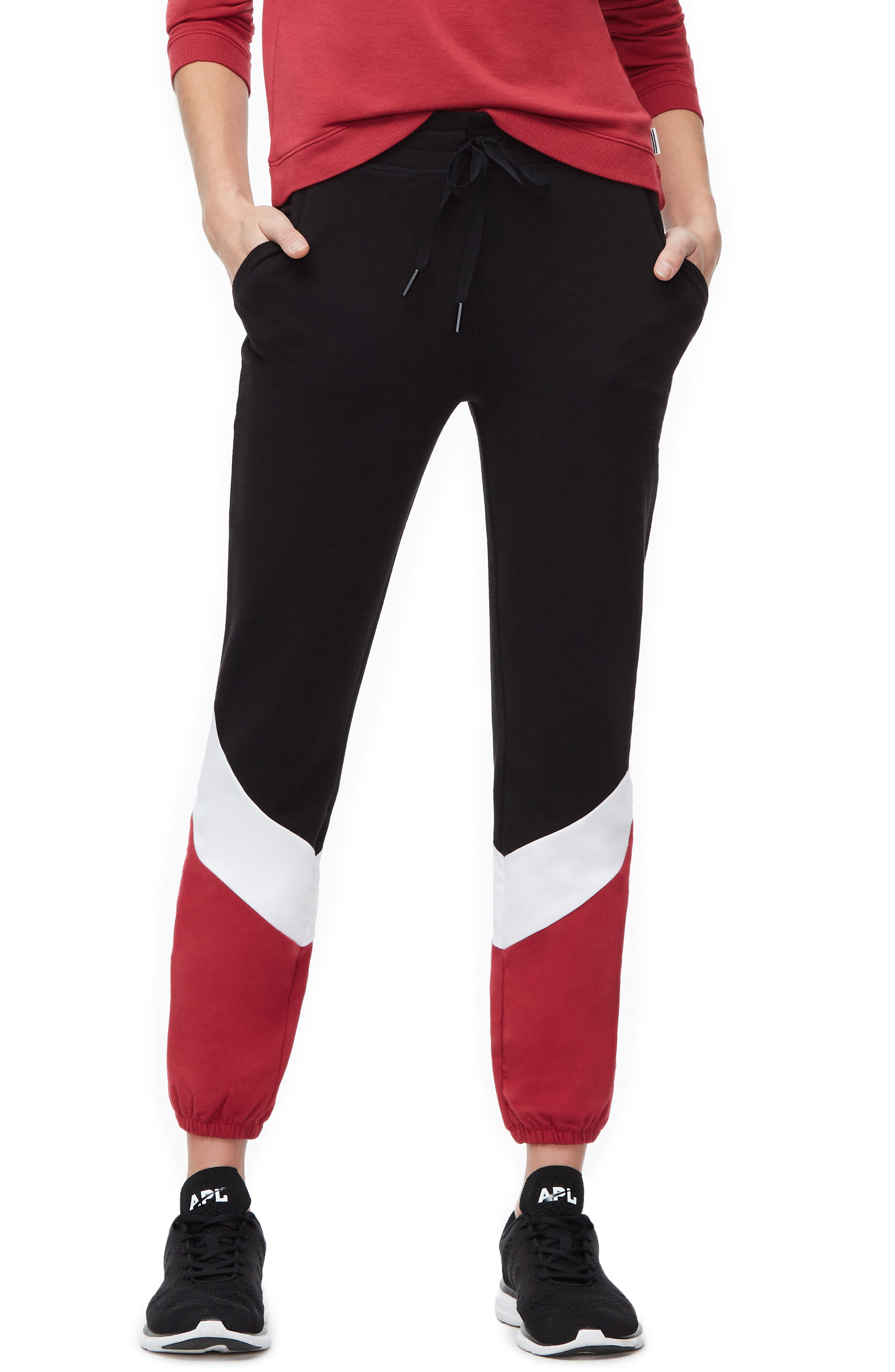 Plus Women's Good American Colorblock Sweatpants