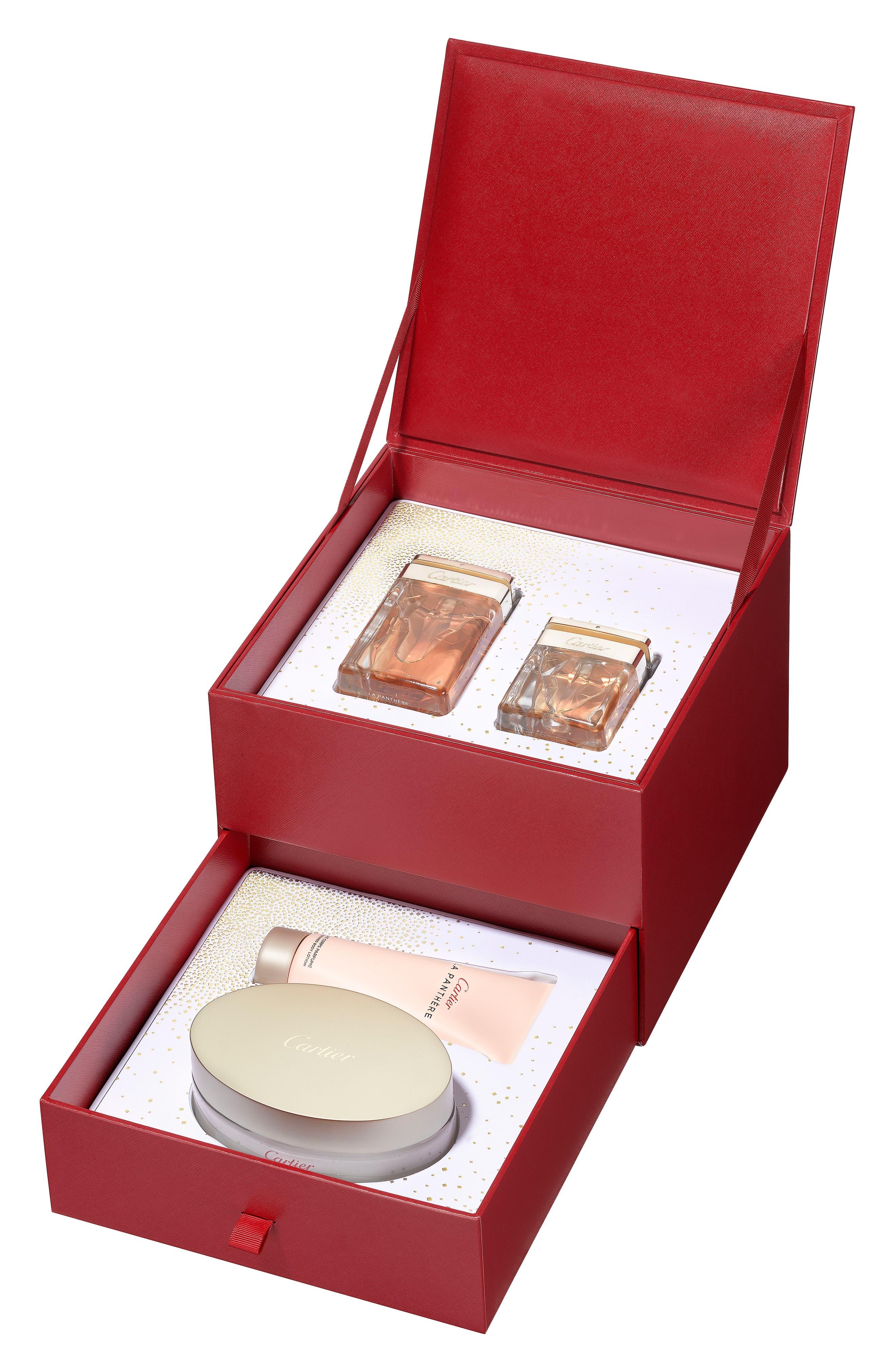 La Panthère Eau de Parfum Prestige Set,                             Main thumbnail 1, color,                             000
