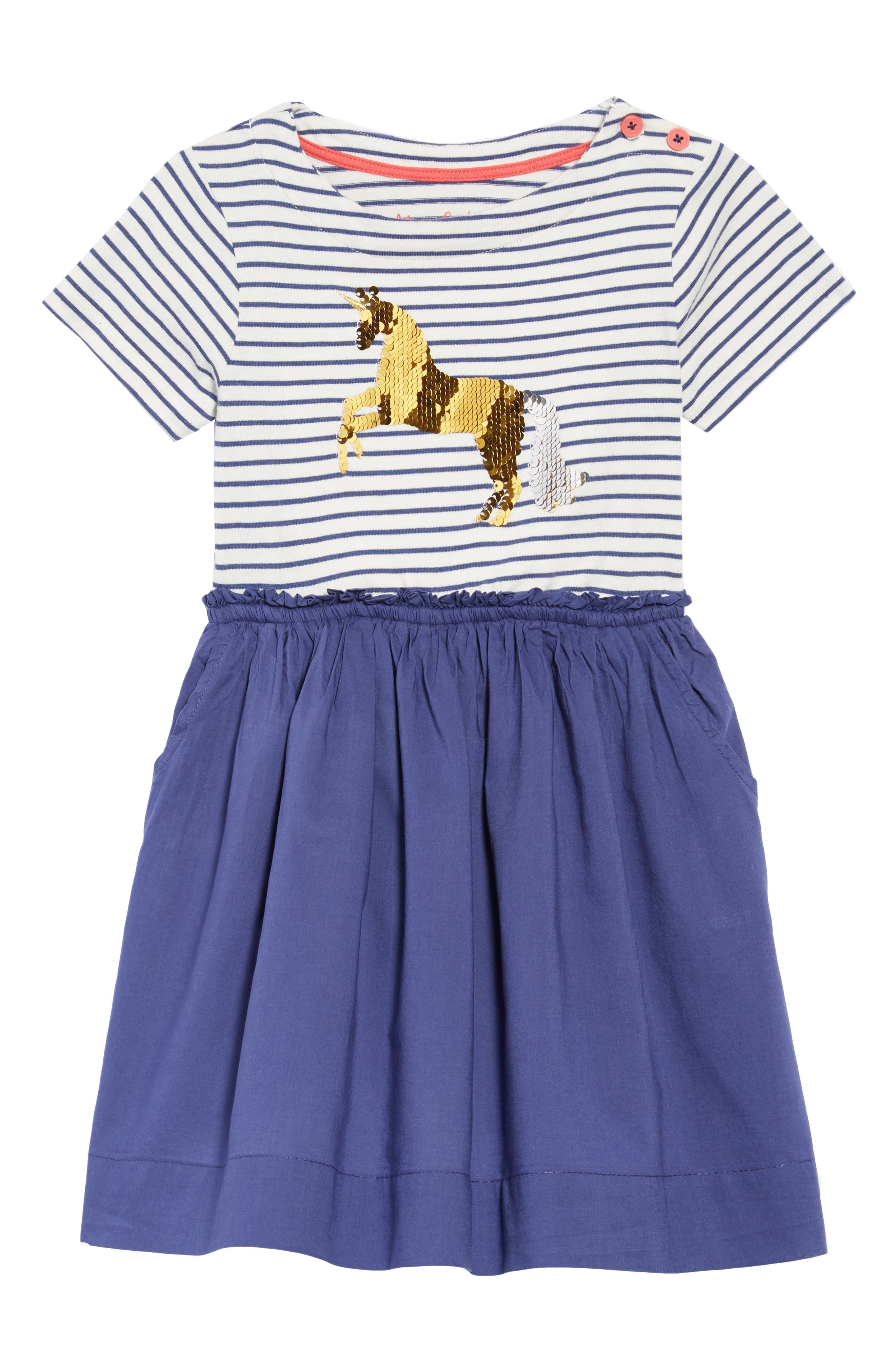 Color Change Sequin Unicorn Dress,                             Main thumbnail 1, color,                             414