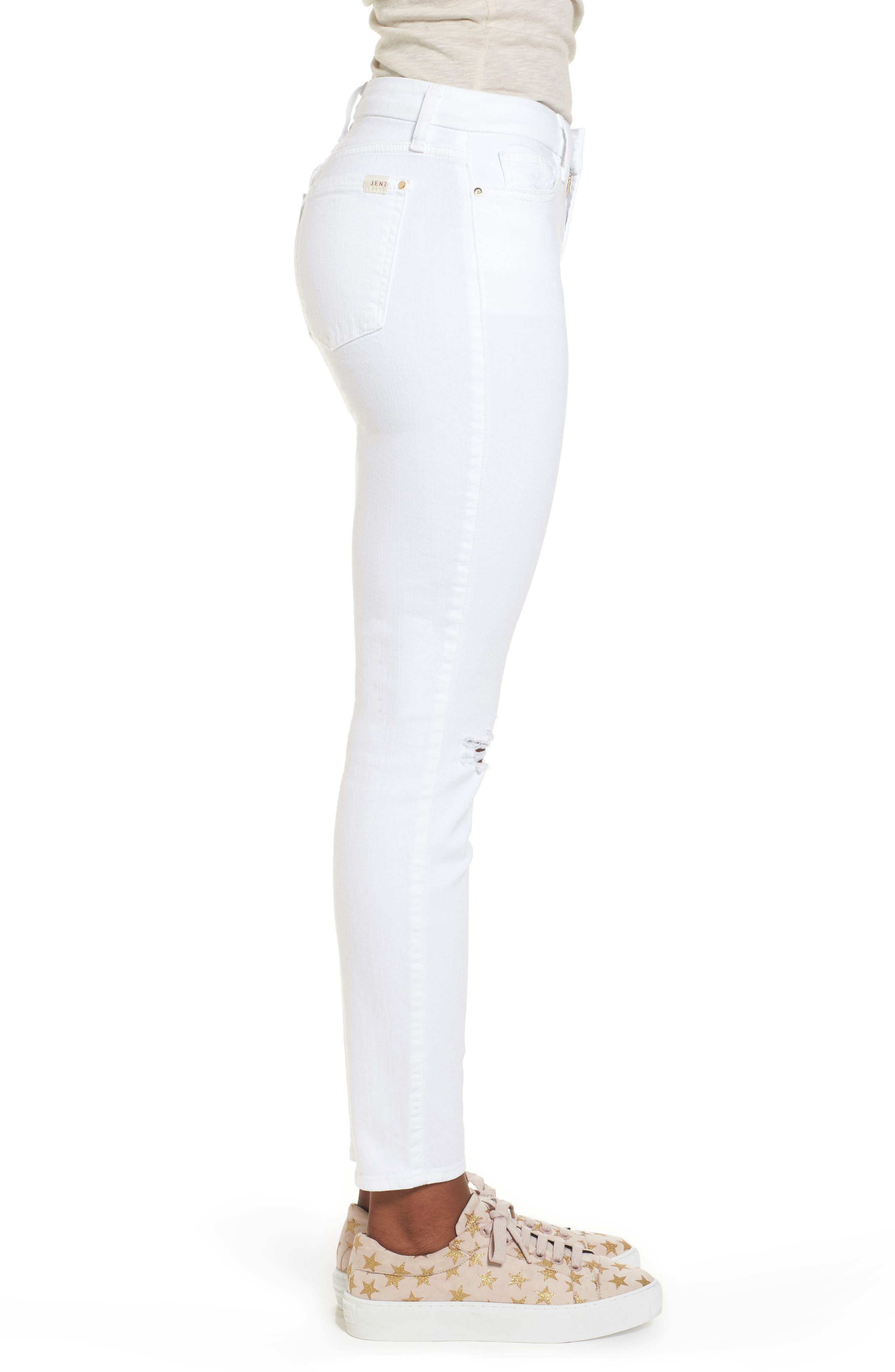 JEN7 BY 7 FOR ALL MANKIND,                             Ankle Skinny Jeans,                             Alternate thumbnail 3, color,                             WHITE 2
