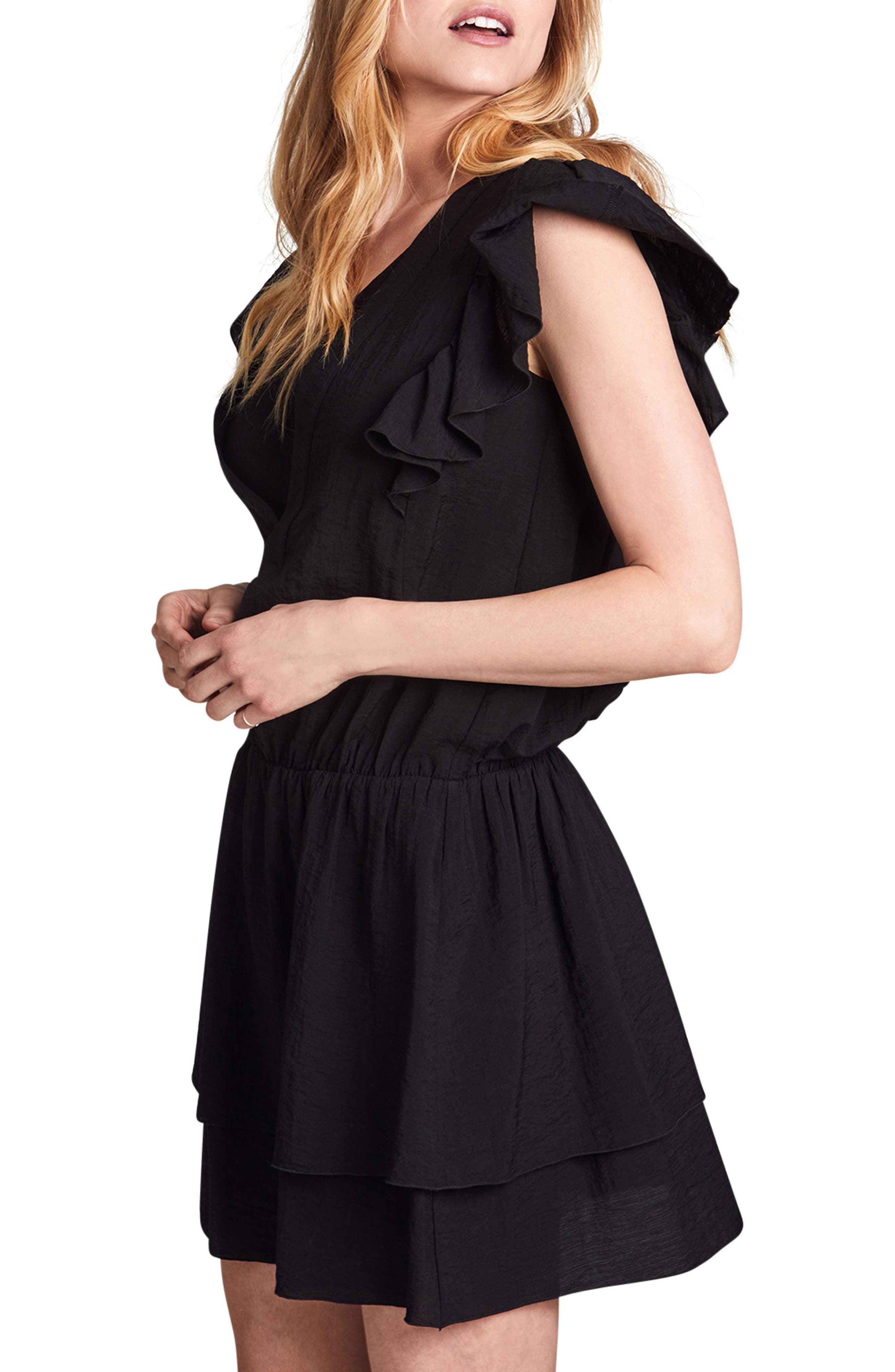 Naomi Nursing Dress,                             Alternate thumbnail 3, color,                             BLACK