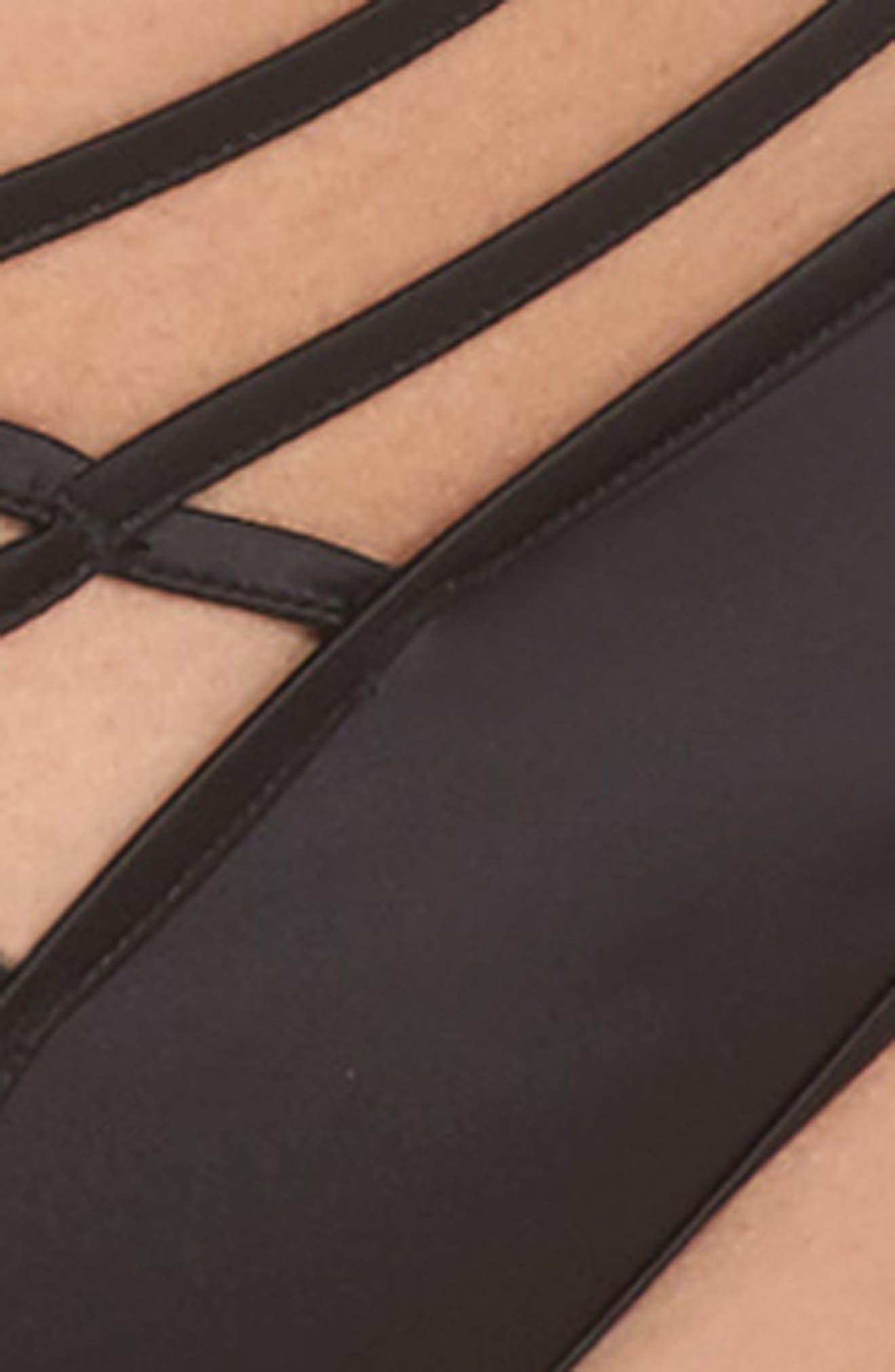 Lotus Noir Curve Thong,                             Alternate thumbnail 4, color,