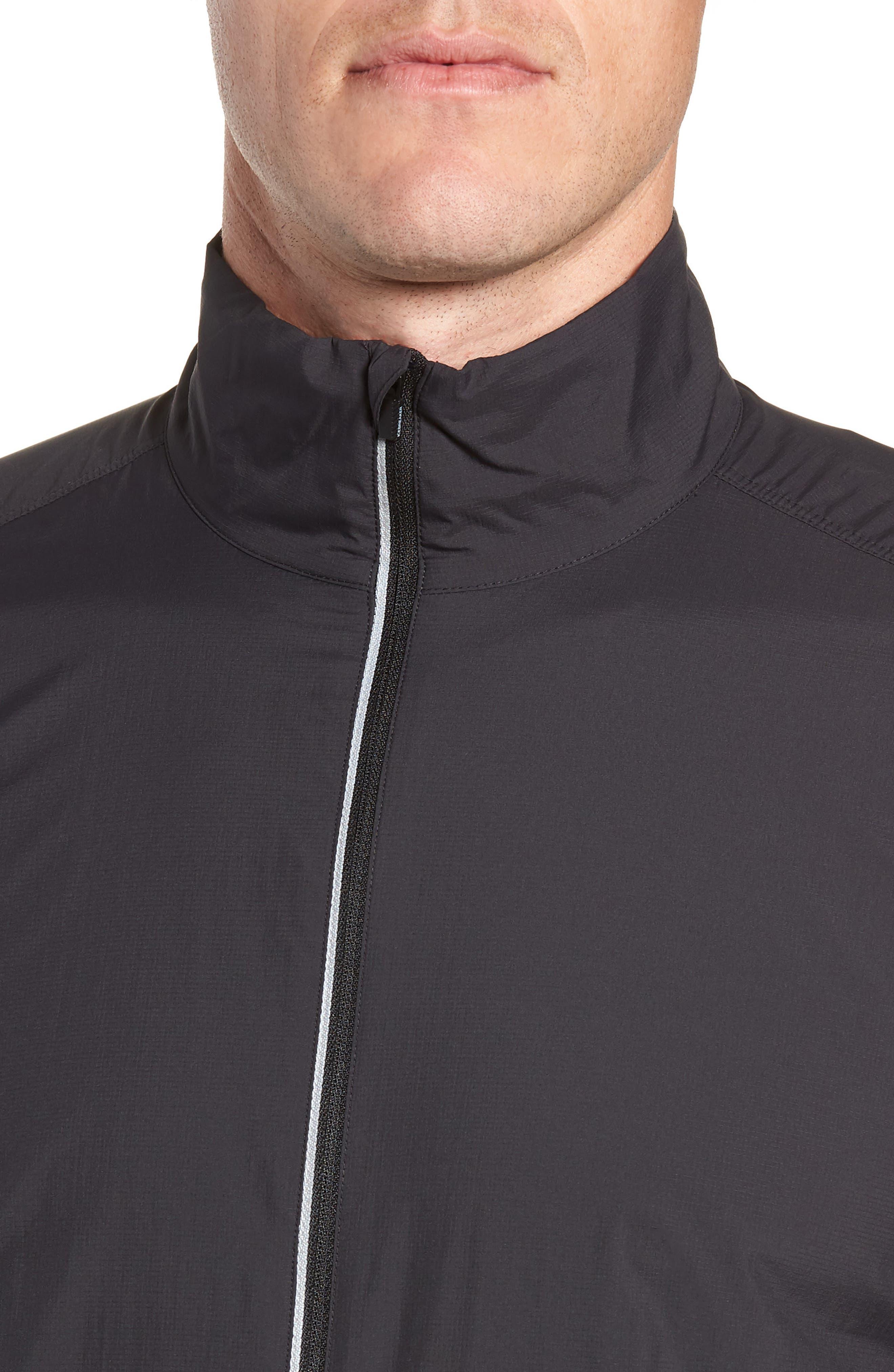 Cool-Lite<sup>™</sup> Incline Windbreaker Jacket,                             Alternate thumbnail 4, color,                             BLACK