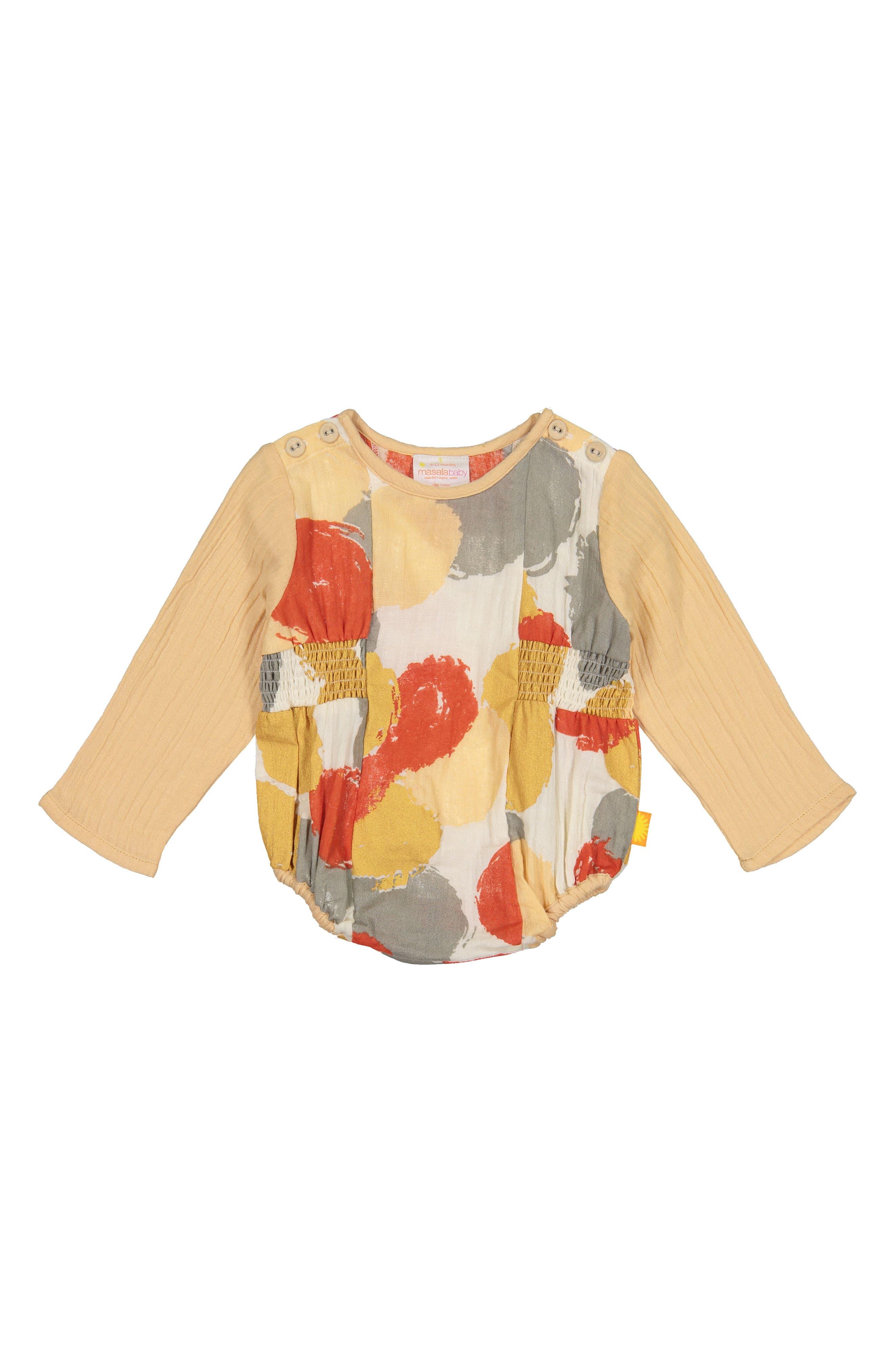 Brooklyn Organic Cotton Bodysuit,                         Main,                         color, MULTI