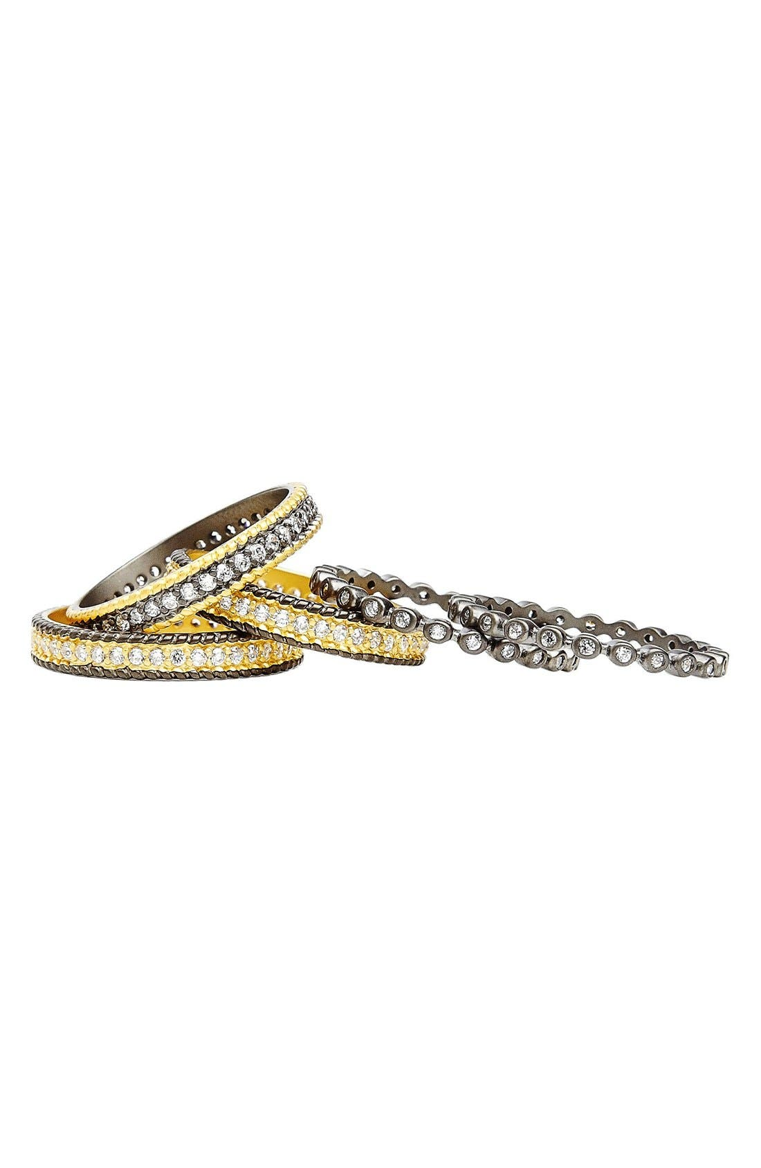 'The Standards' Stackable Rings,                             Alternate thumbnail 2, color,                             GUNMETAL/ GOLD