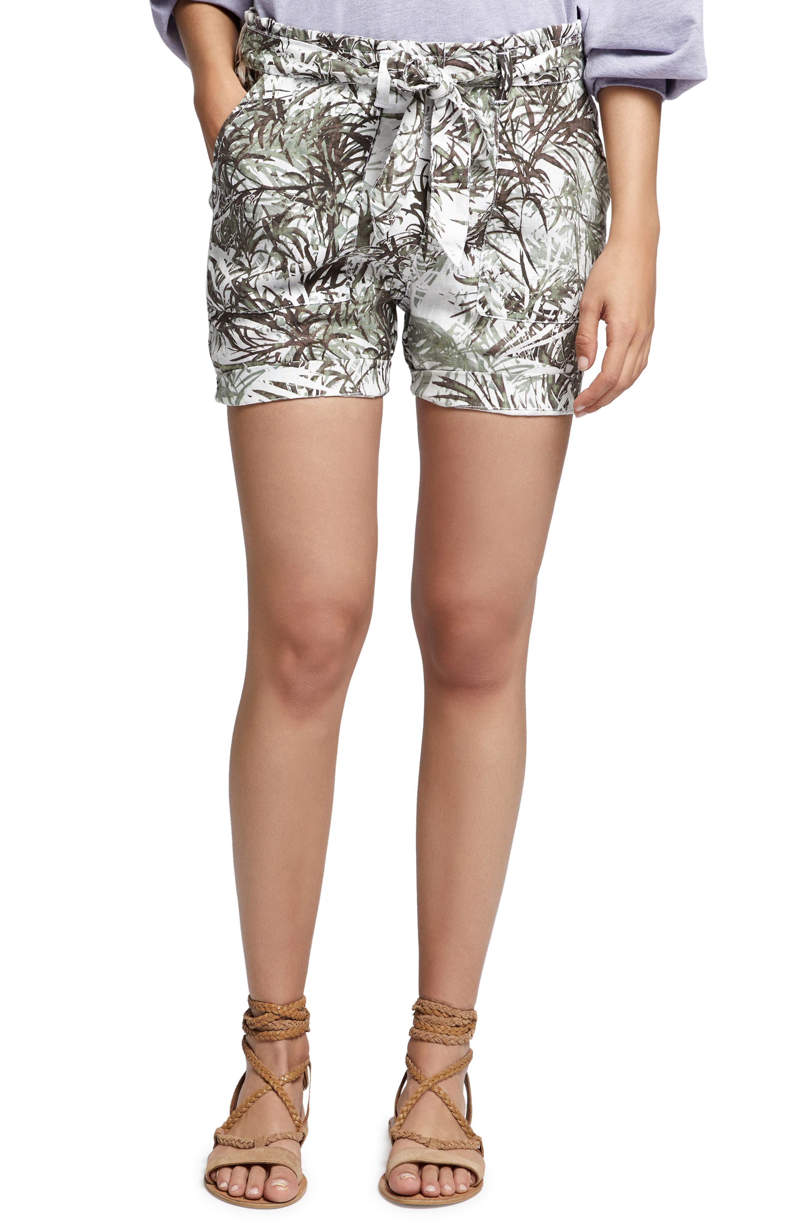 Muse Tie Waist Shorts,                         Main,                         color, 394