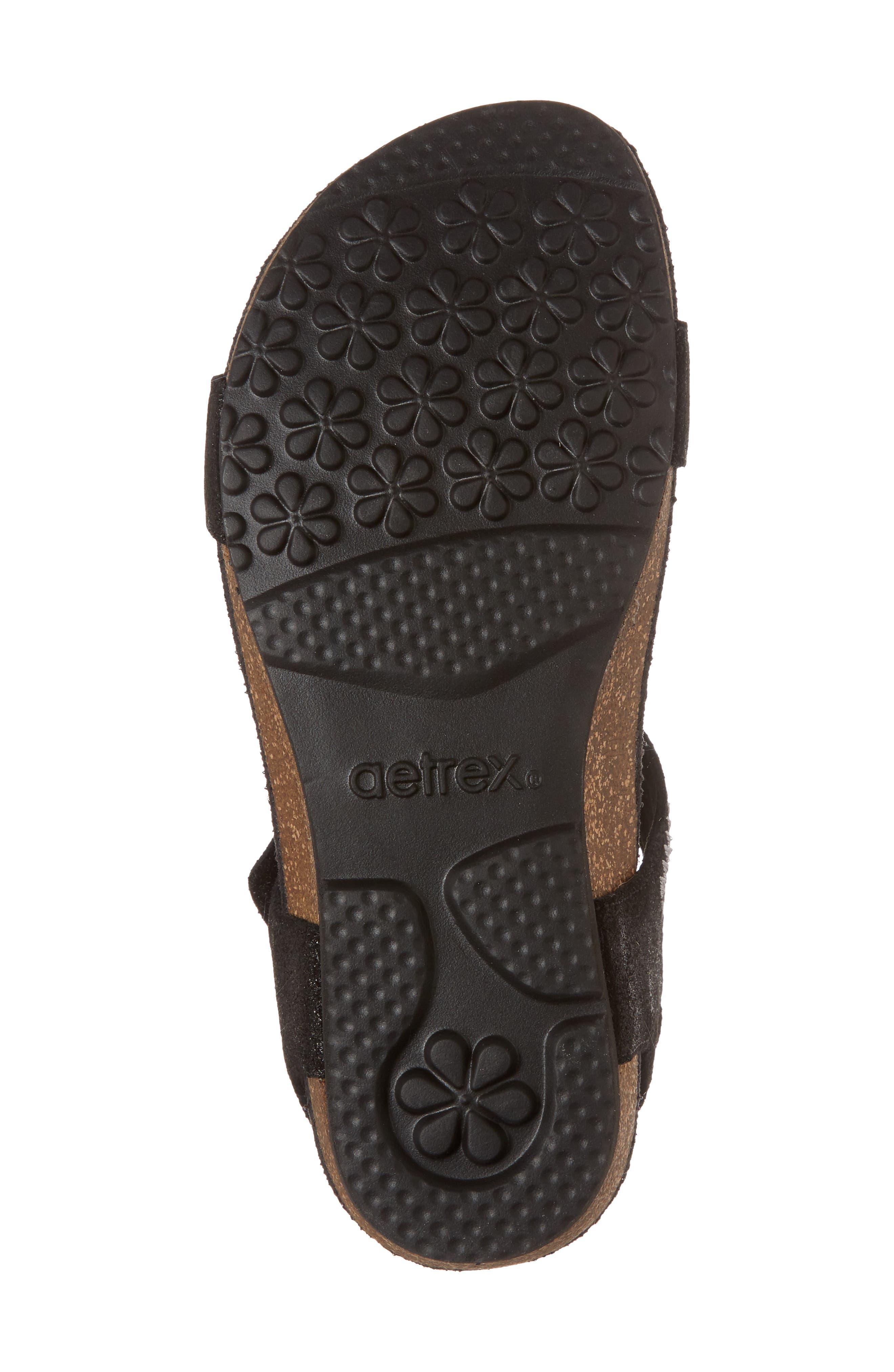 Capri Wedge Sandal,                             Alternate thumbnail 6, color,                             001