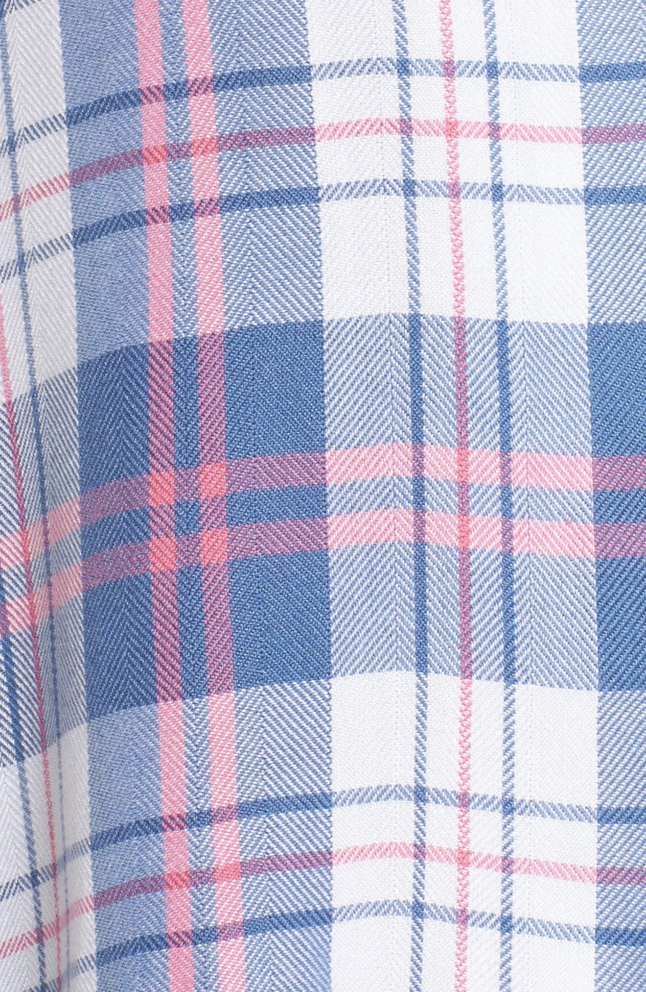 Plaid Short Pajamas,                             Alternate thumbnail 5, color,                             400