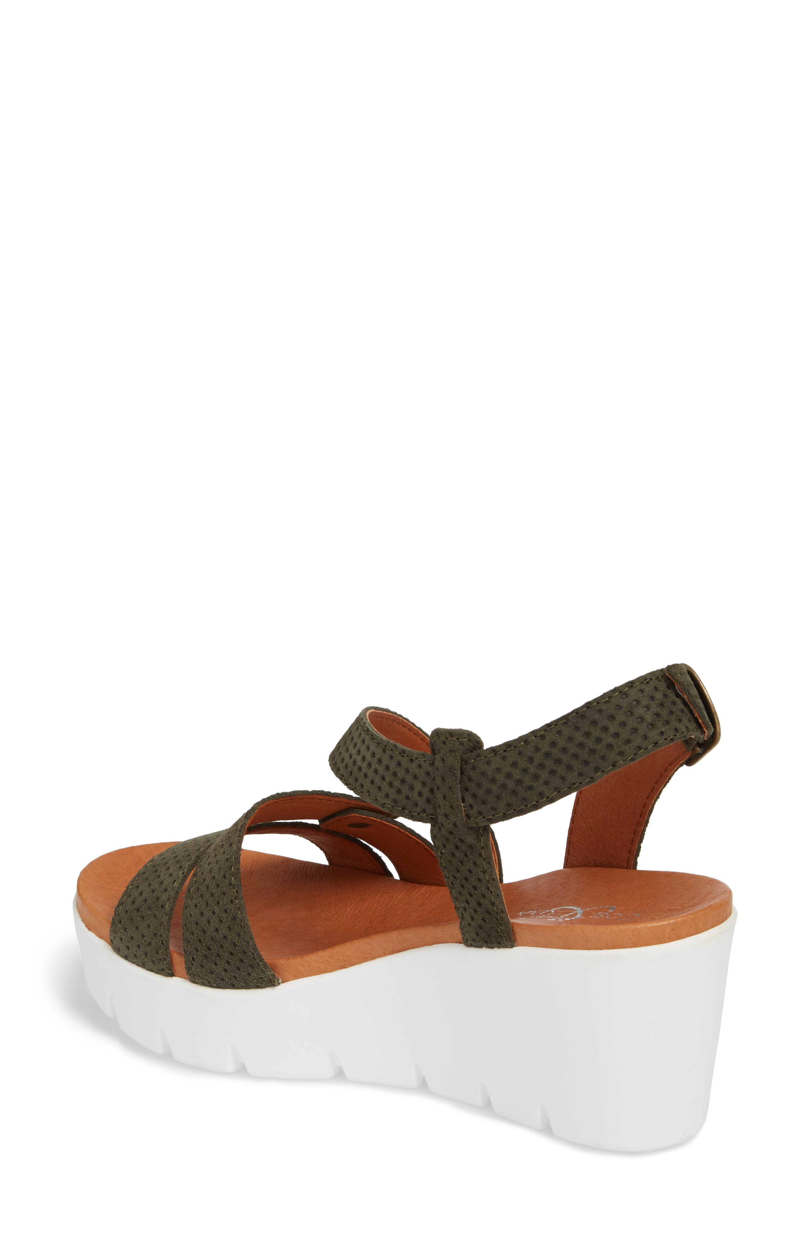 Sierra Platform Wedge Sandal,                             Alternate thumbnail 2, color,                             MINT LEATHER