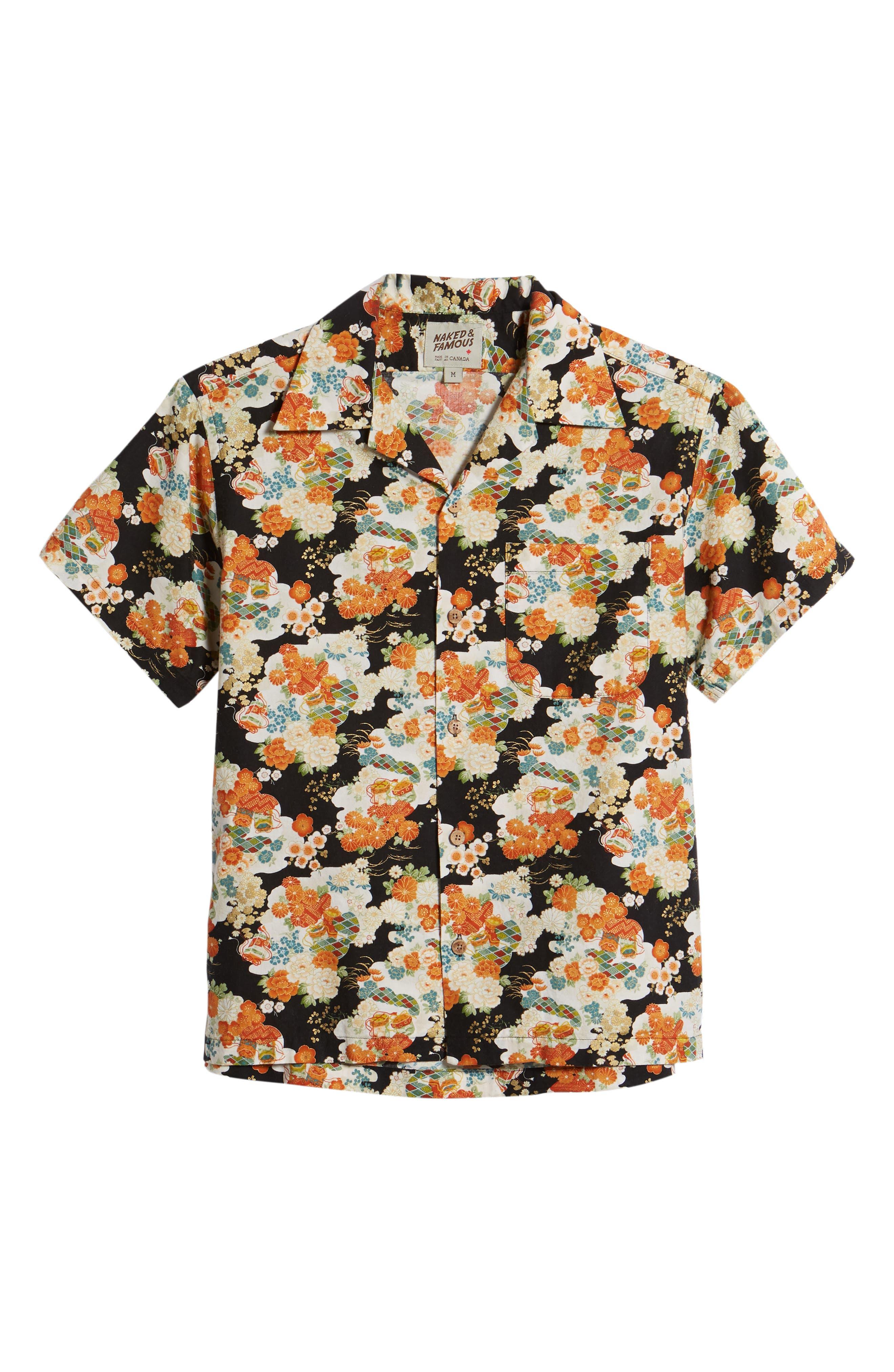 Japanese Aloha Festival Woven Shirt,                             Alternate thumbnail 6, color,                             001