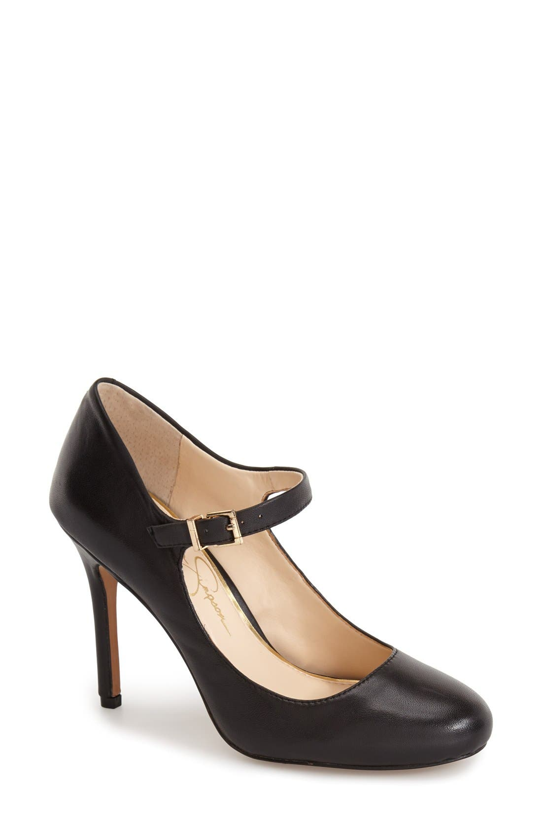 'Raelyn' Mary Jane Pump,                             Main thumbnail 1, color,                             001