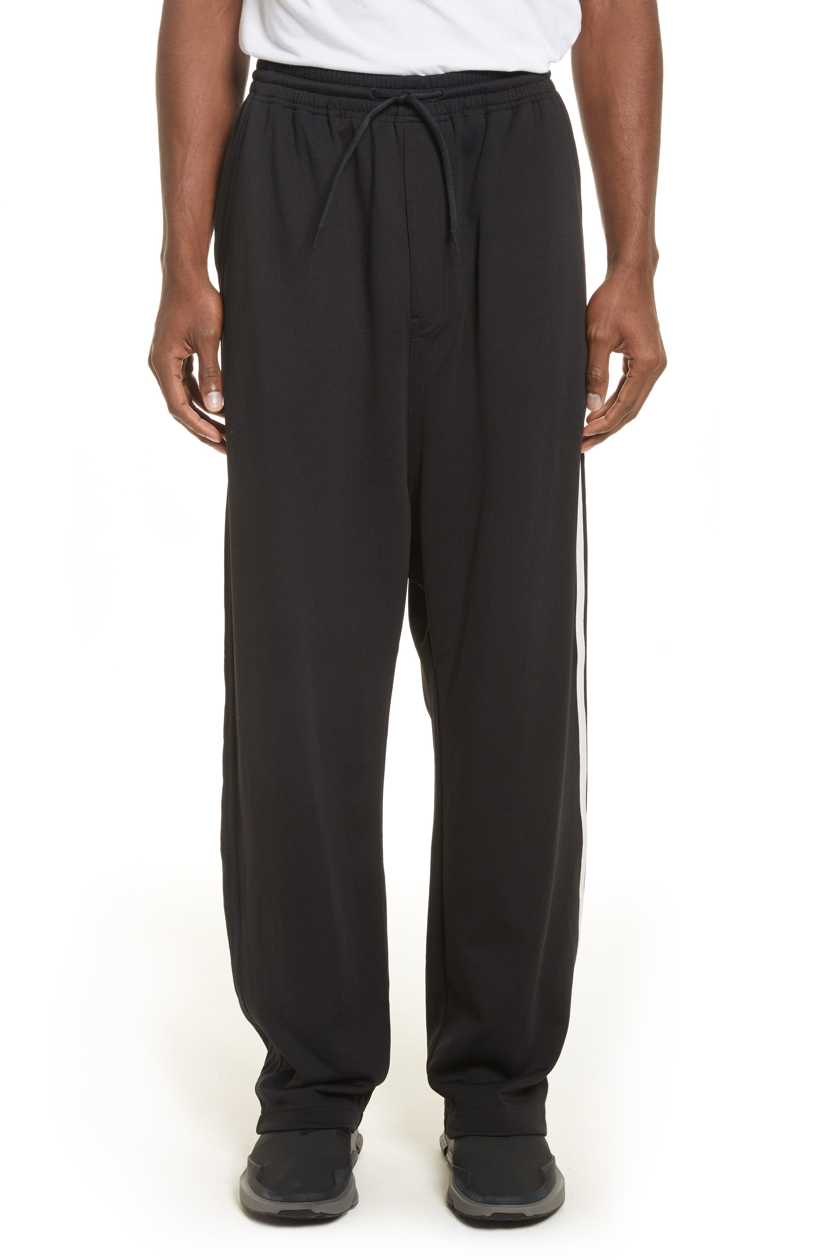 x adidas Wide Leg Track Pants,                             Main thumbnail 1, color,                             001