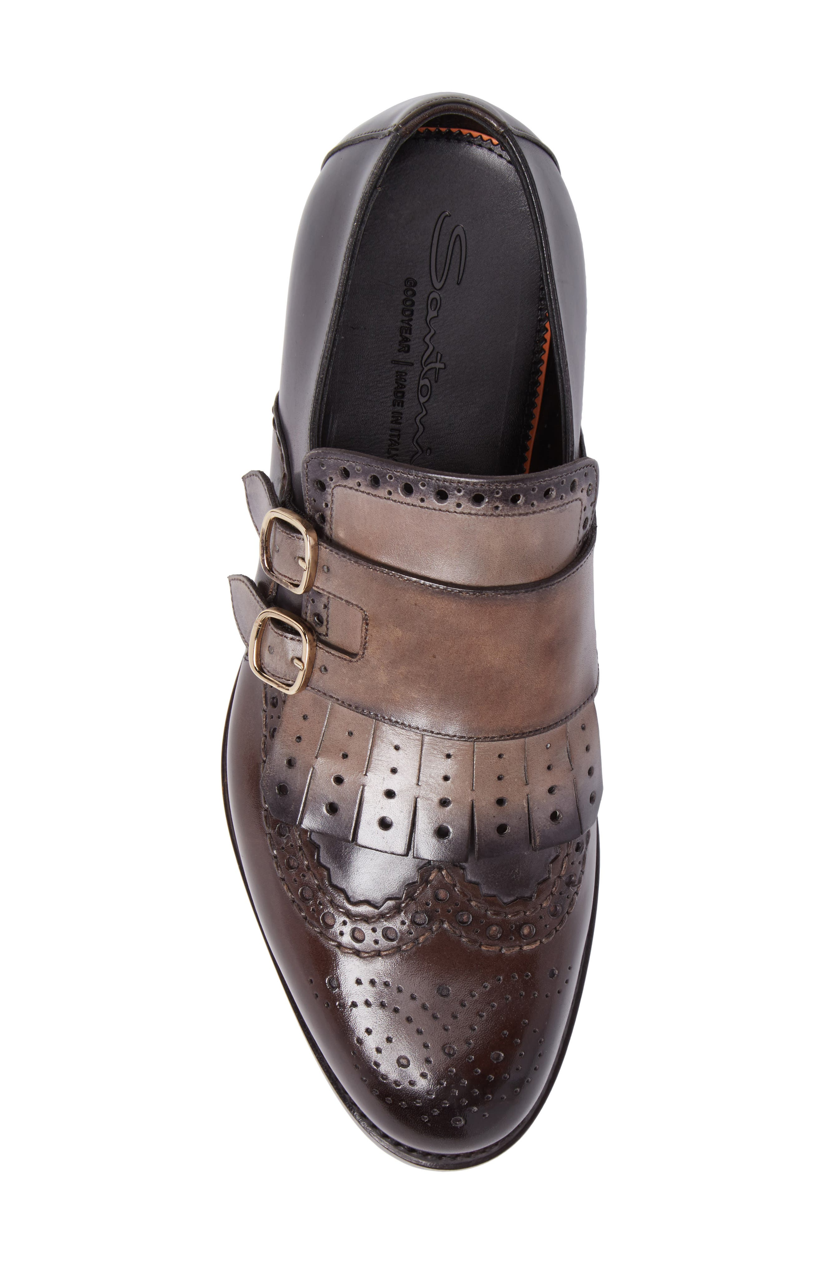 Goodwin Double Monk Strap Shoe,                             Alternate thumbnail 5, color,                             030