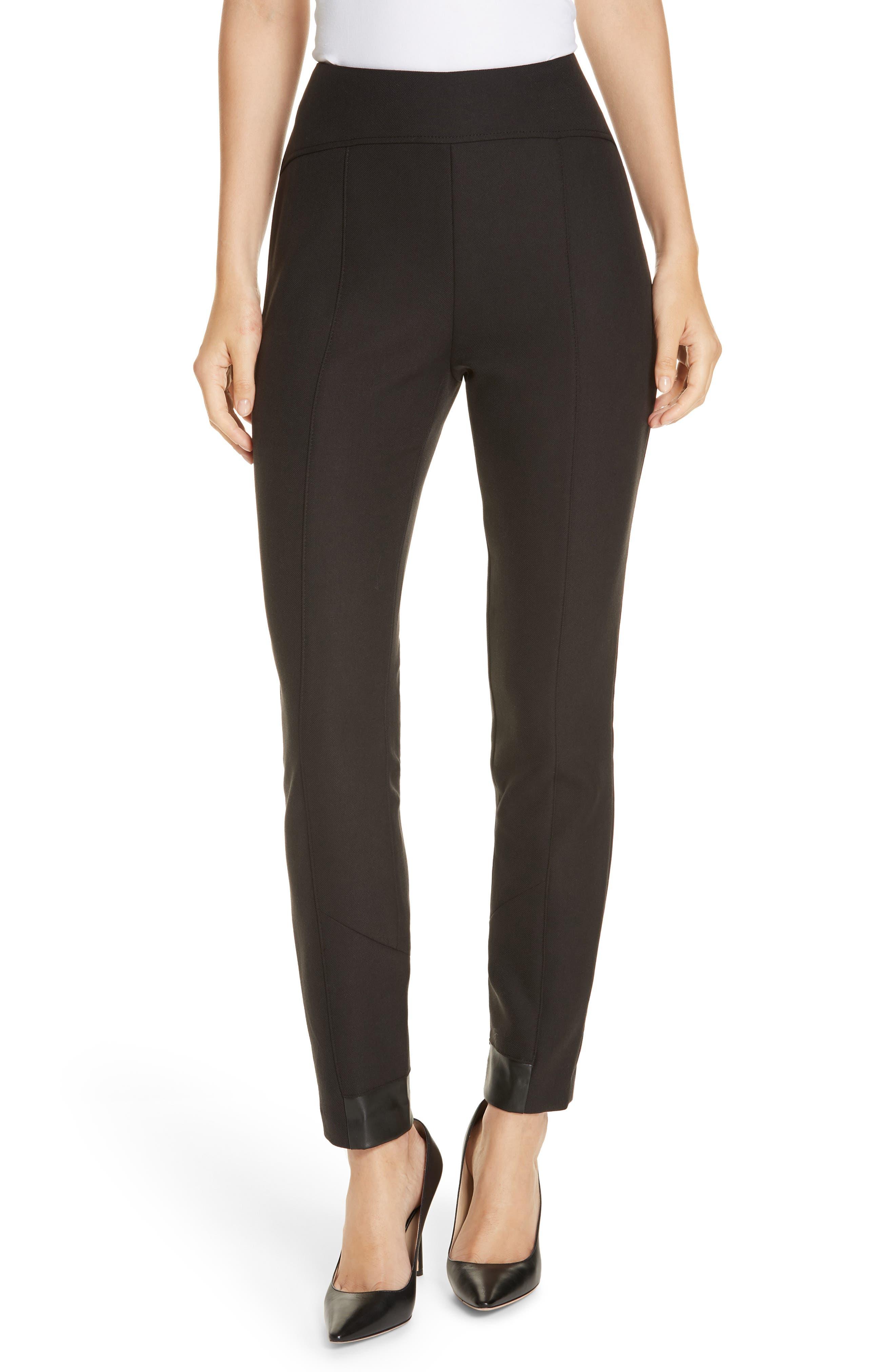 BOSS Tileta Slim Leg Trousers, Main, color, 001
