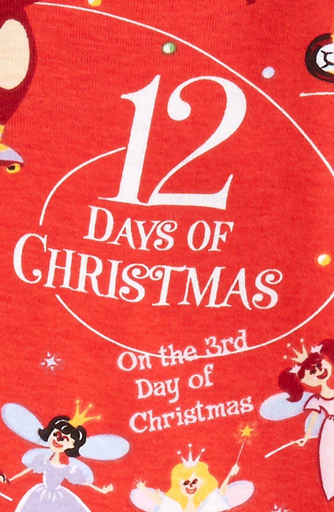 12 Days of Christmas Fitted Two-Piece Pajamas & Book Set,                             Alternate thumbnail 2, color,                             600