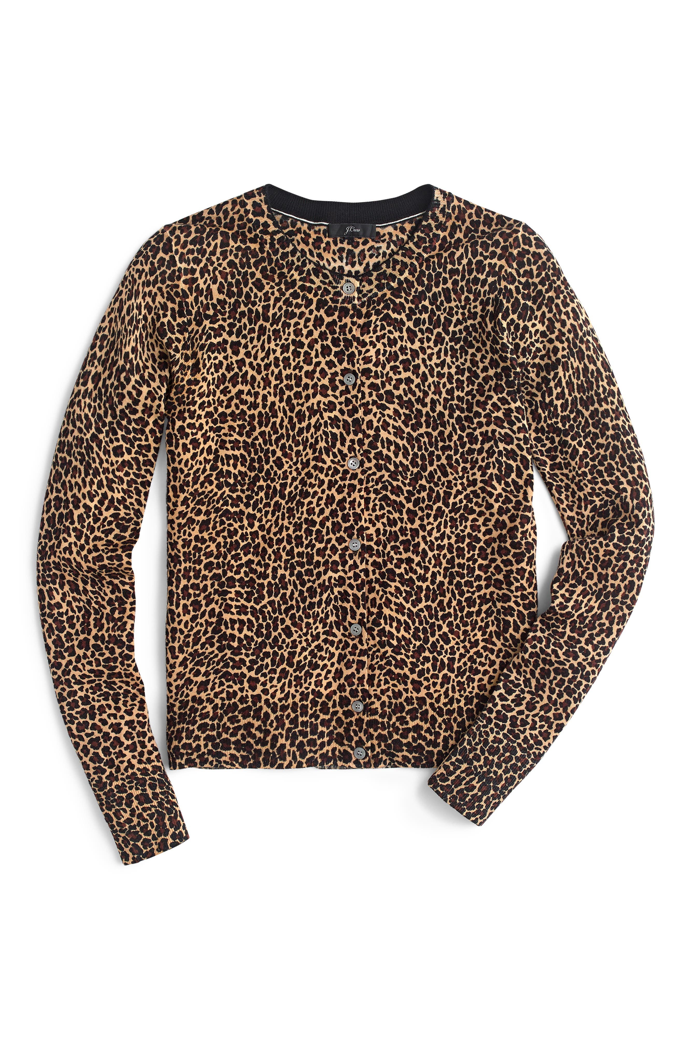 Jackie Leopard Print Cardigan, Main, color, 200