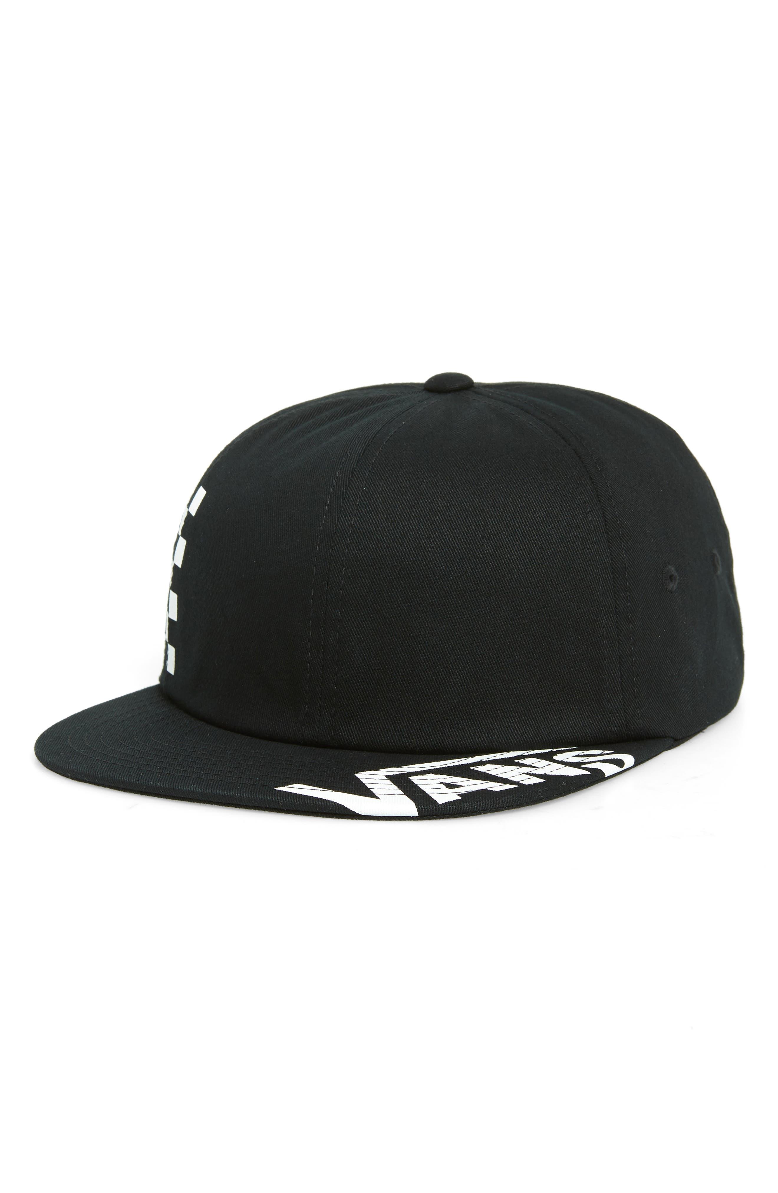 Distort Logo Baseball Cap,                             Main thumbnail 1, color,                             BLACK