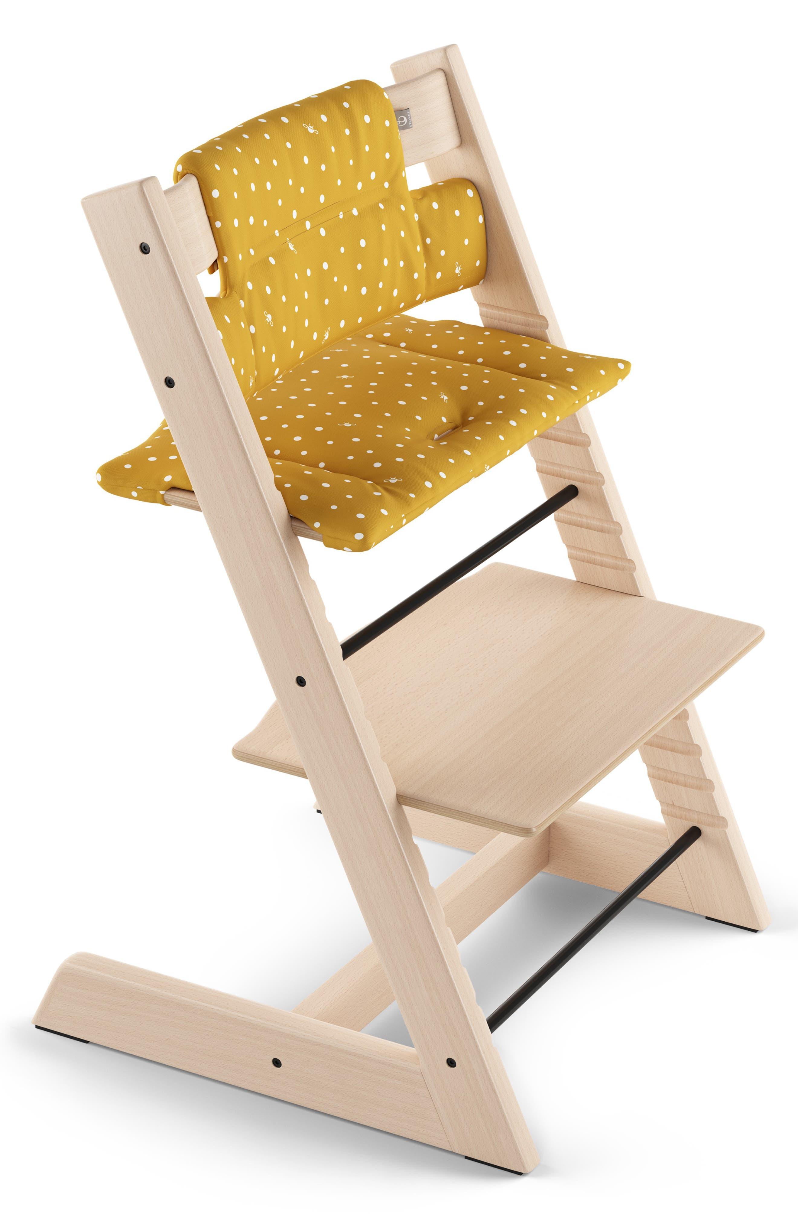 Tripp Trapp<sup>®</sup> Classic Seat Cushions,                             Main thumbnail 1, color,                             OCKER BEE