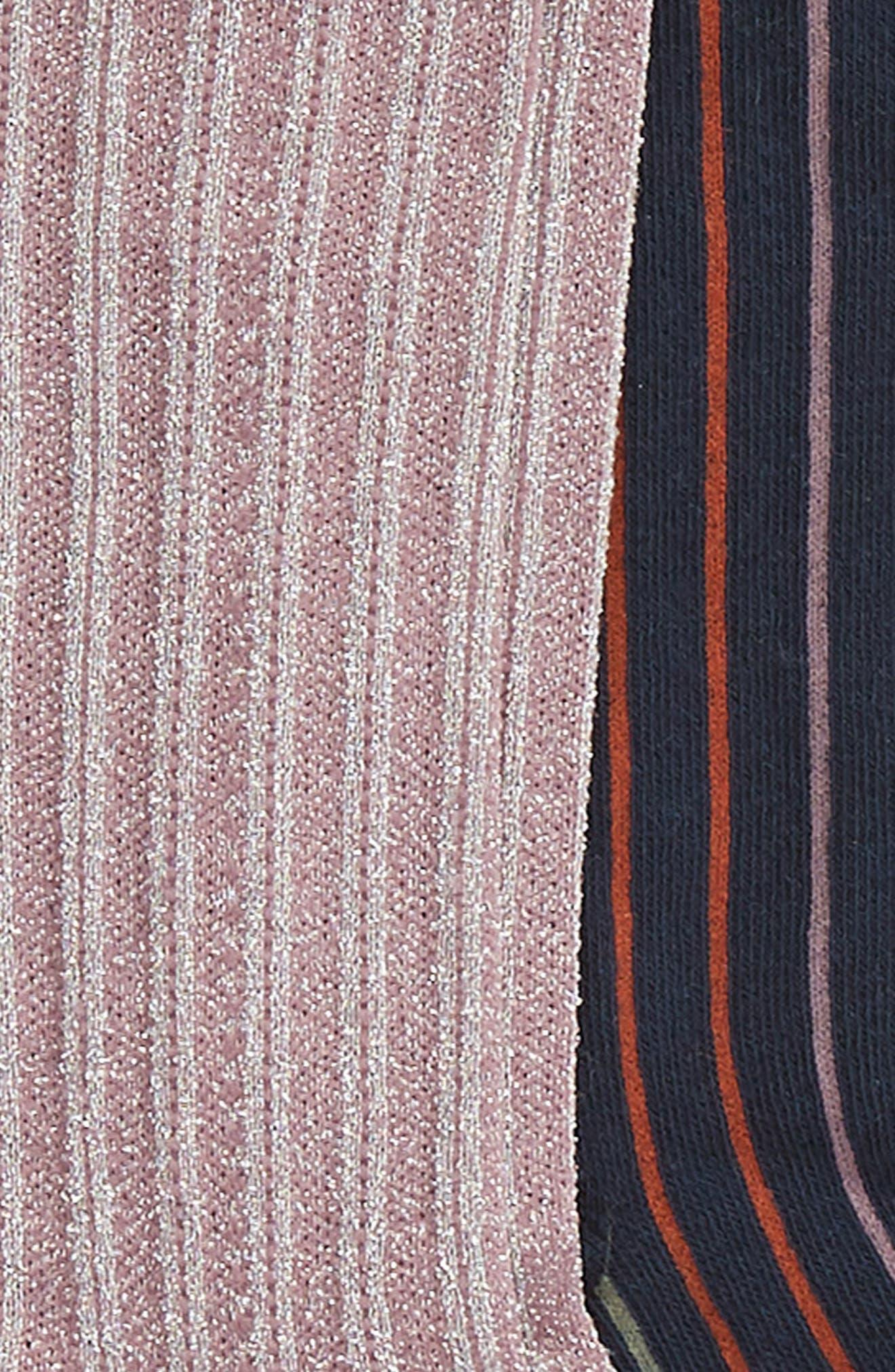 2-Pack Vertical Stripe Crew Socks,                             Alternate thumbnail 2, color,                             NAVY MARITIME MULTI