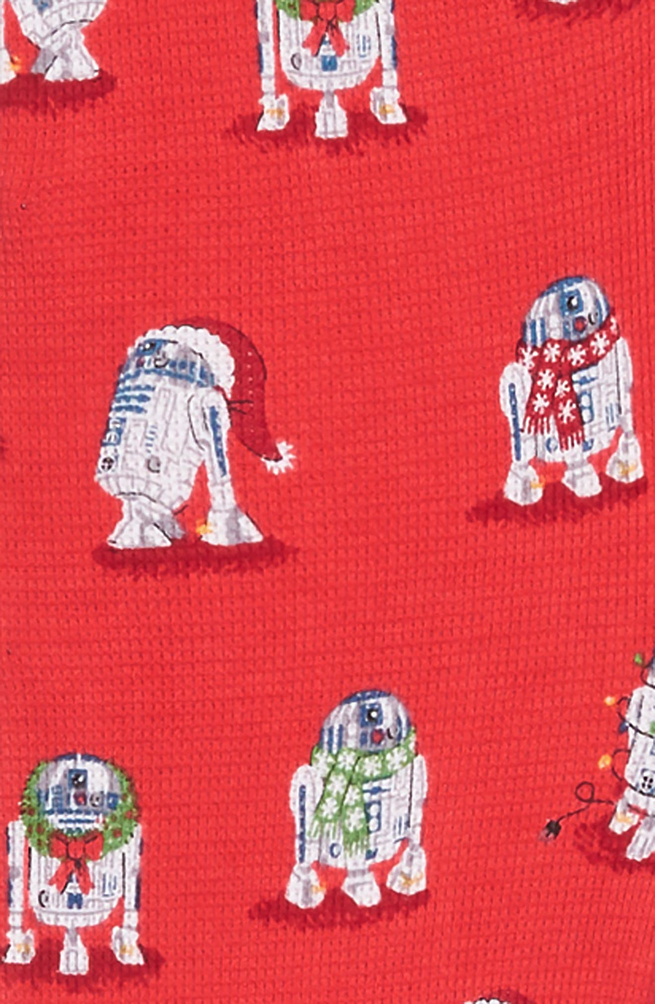 x Star Wars<sup>™</sup> Christmas R2-D2 Fitted One-Piece Pajamas,                             Alternate thumbnail 2, color,                             600
