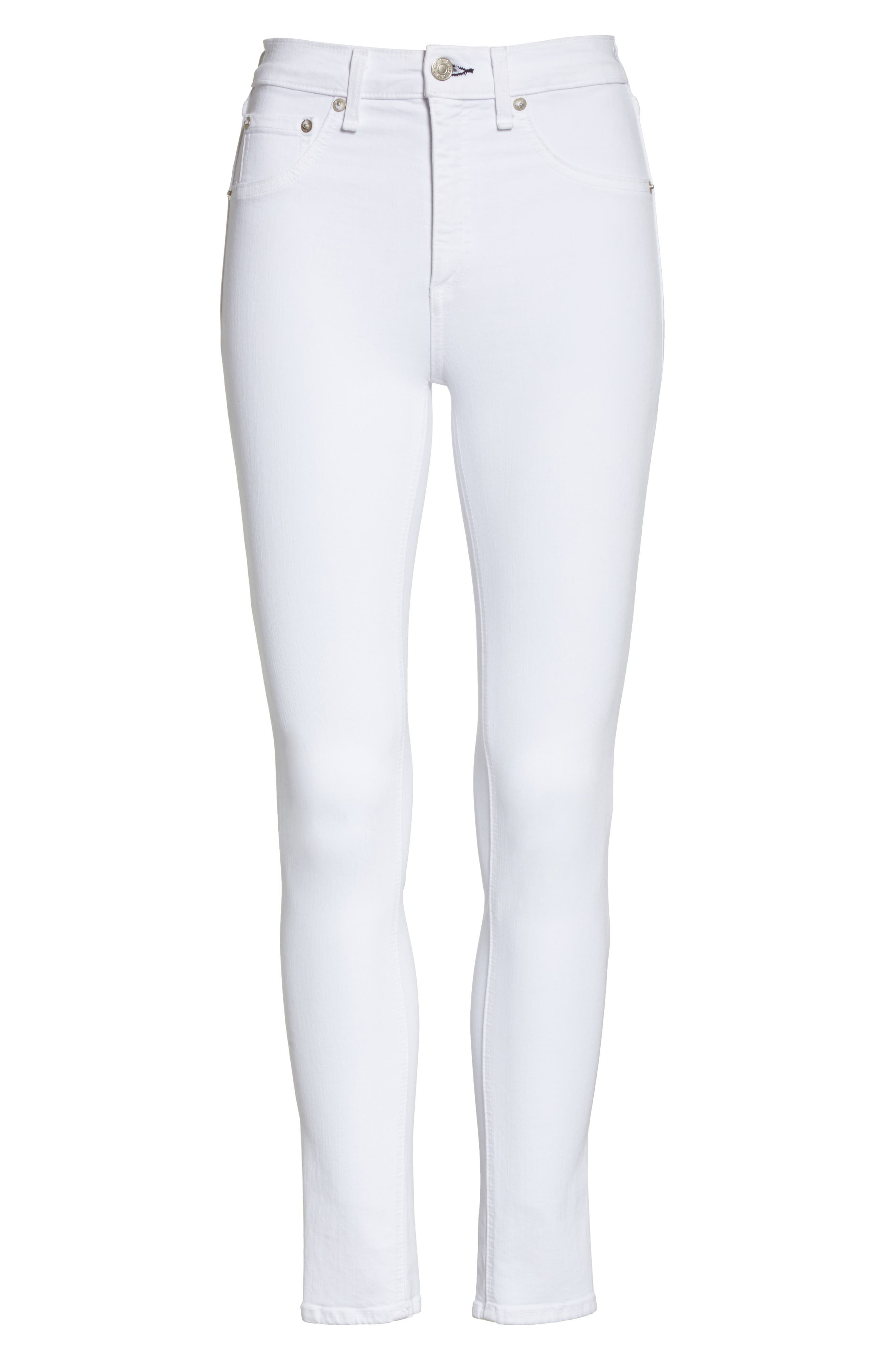 Skinny Jeans,                             Alternate thumbnail 7, color,                             BLANC