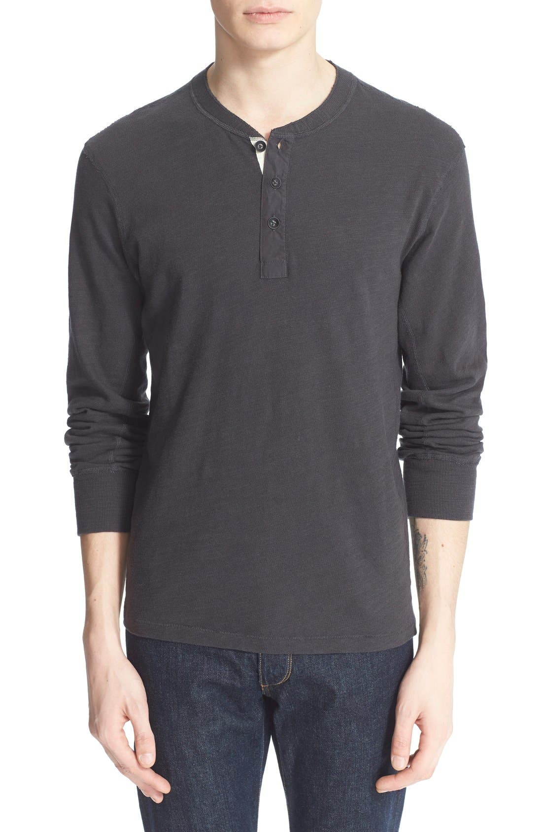 Standard Issue Slub Cotton Henley,                             Main thumbnail 6, color,