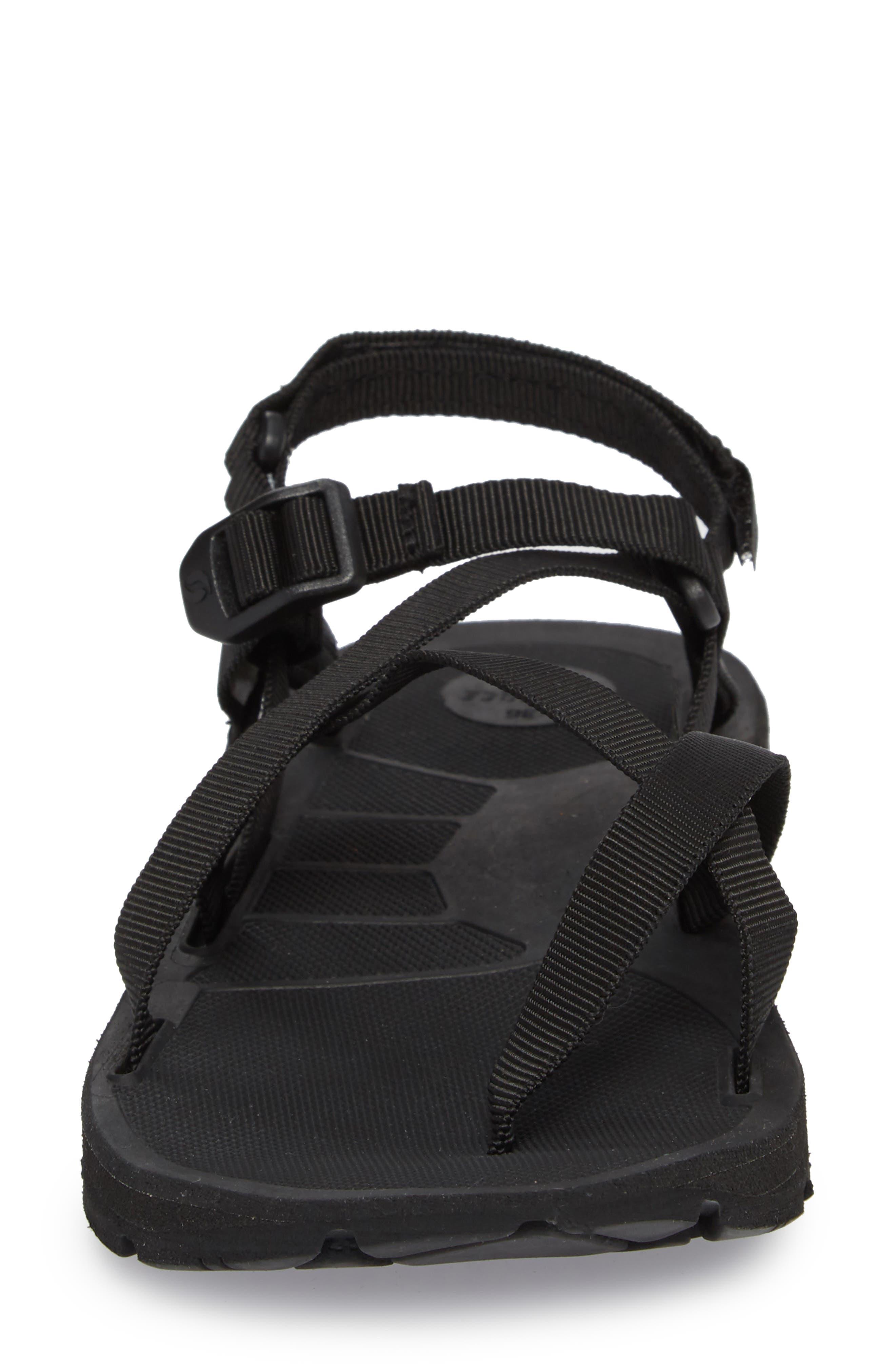 Shore Sandal,                             Alternate thumbnail 4, color,                             BLACK FABRIC