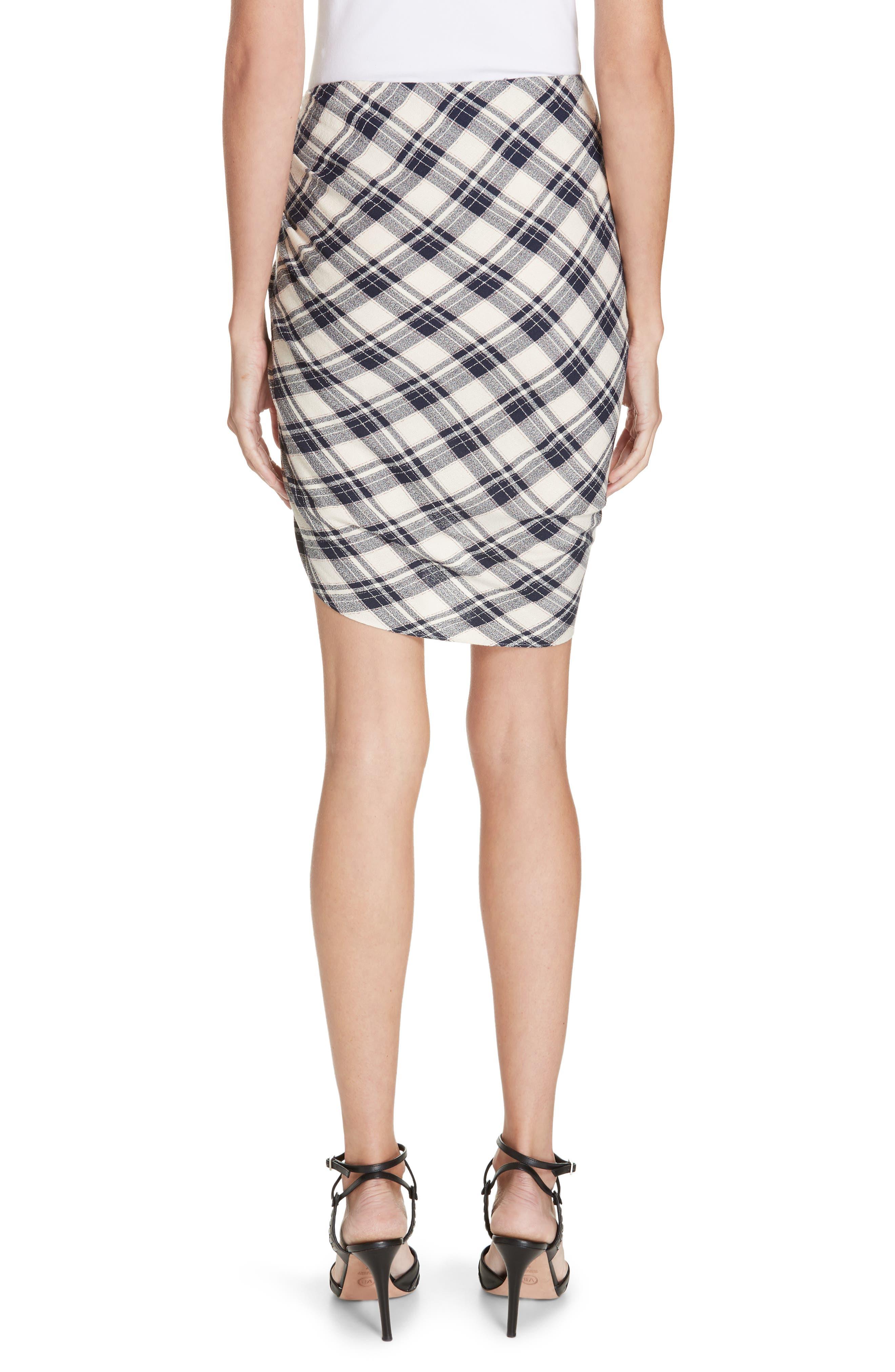 Murphy Ruched Miniskirt,                             Alternate thumbnail 2, color,                             NAVY/ ECRU