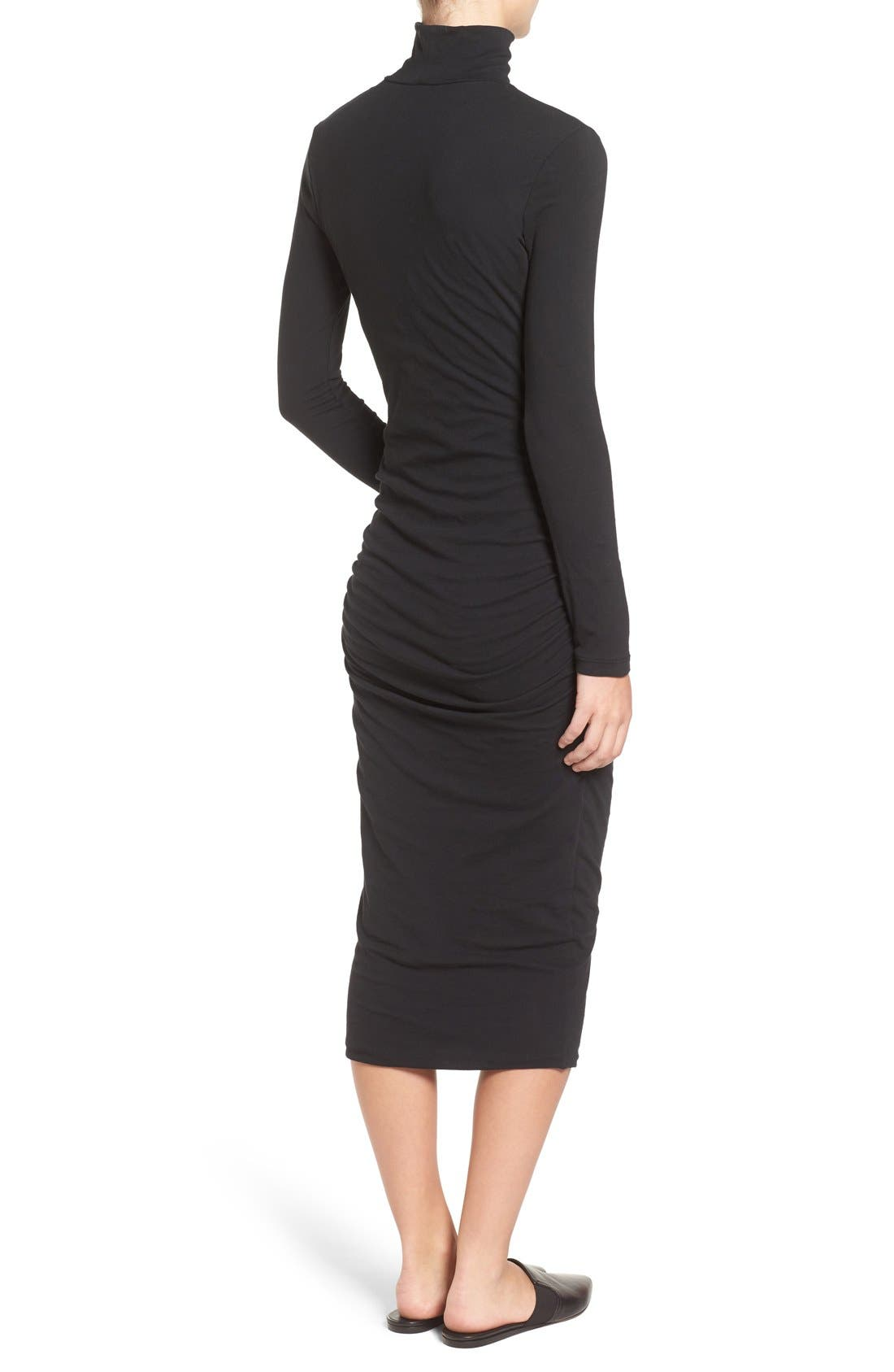 Turtleneck Midi Dress,                             Alternate thumbnail 9, color,